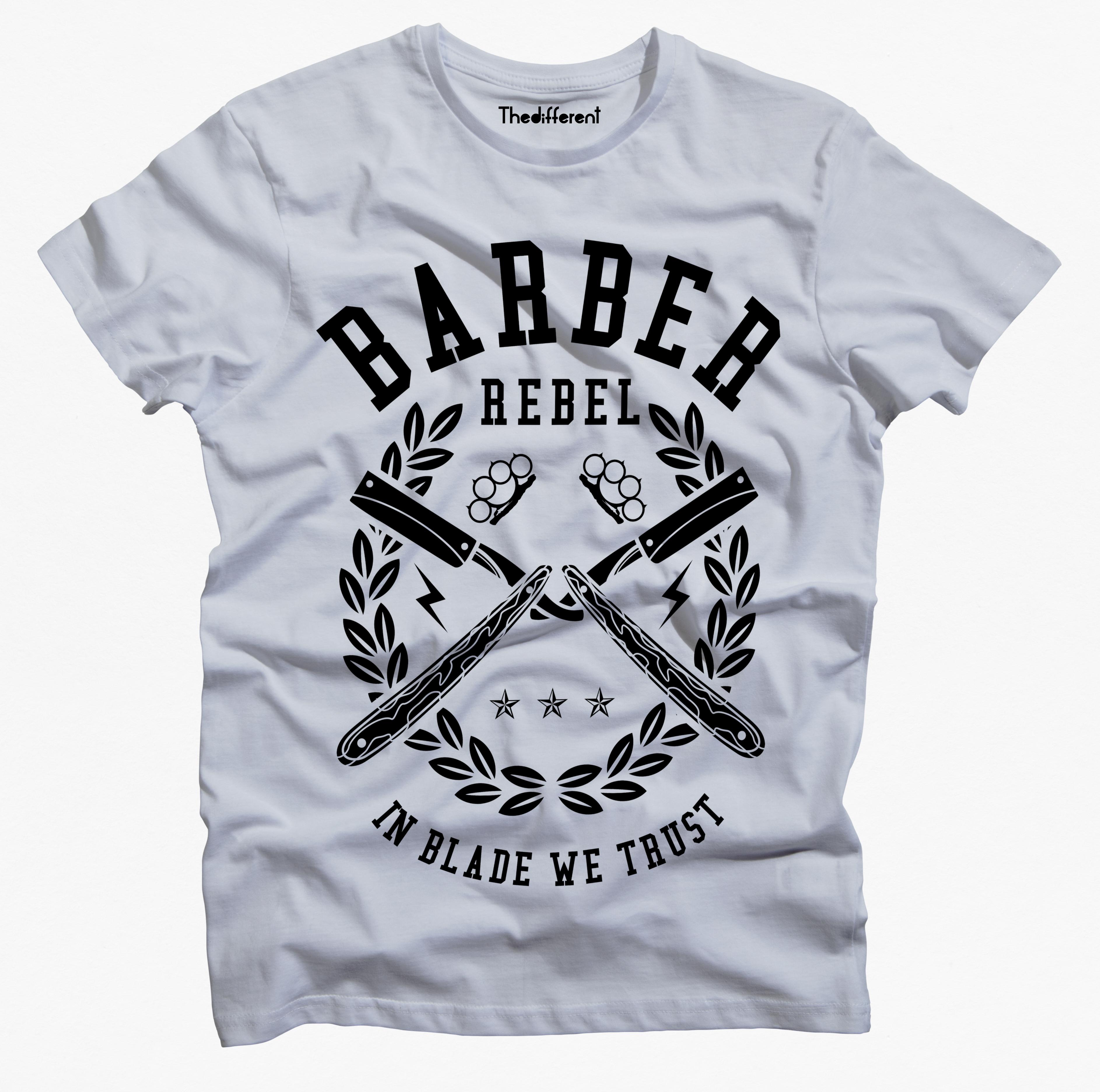 T-Shirt Uomo Barber Rebel - GRU1