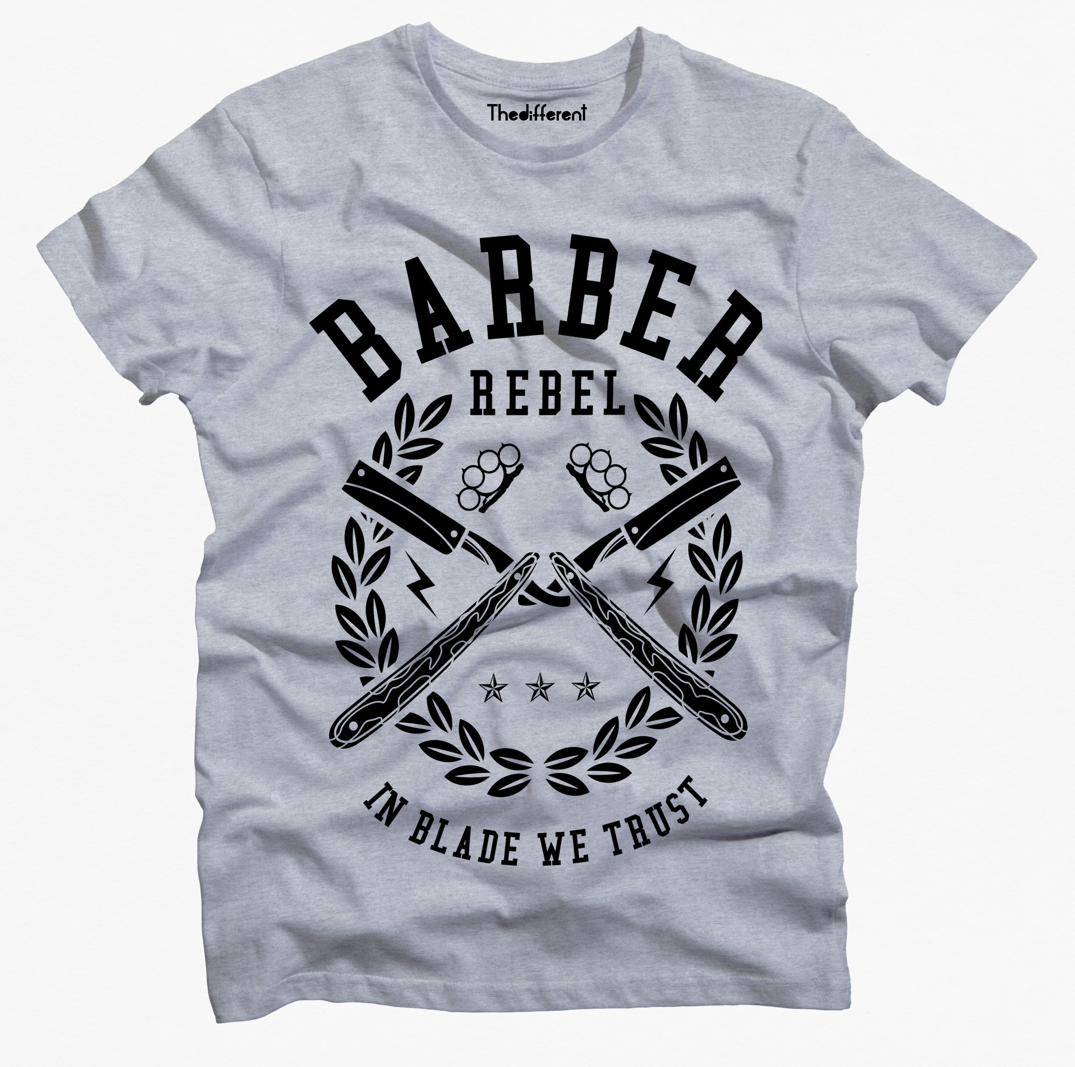 T-Shirt Uomo Barber Rebel – GRU1 3