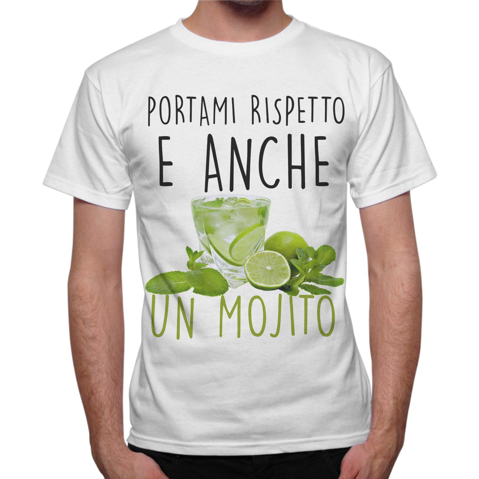 T-Shirt Uomo RISPETTO E MOJITO