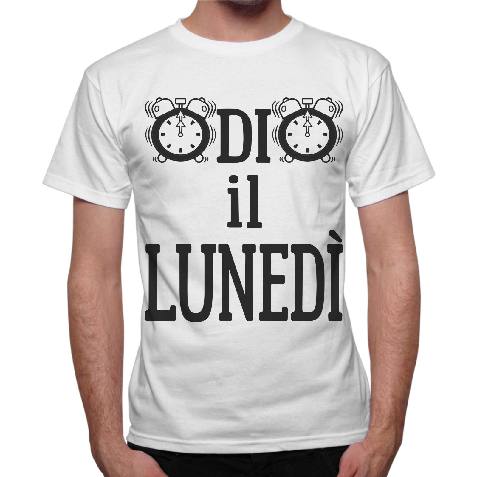 T-Shirt Uomo ODIO IL LUNEDI