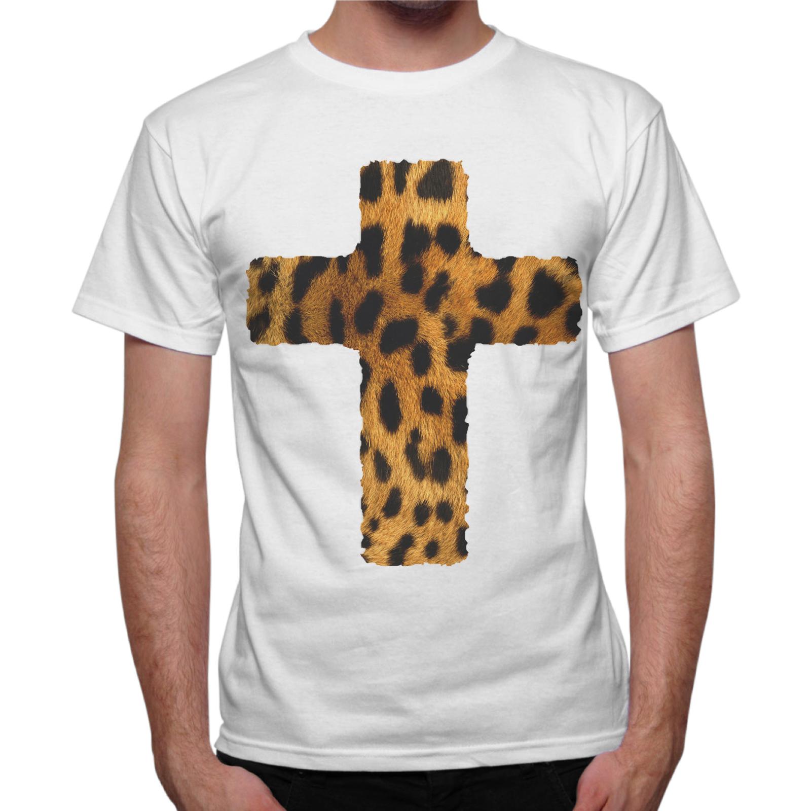 T-Shirt Uomo CROCE LEOPARDATA 1