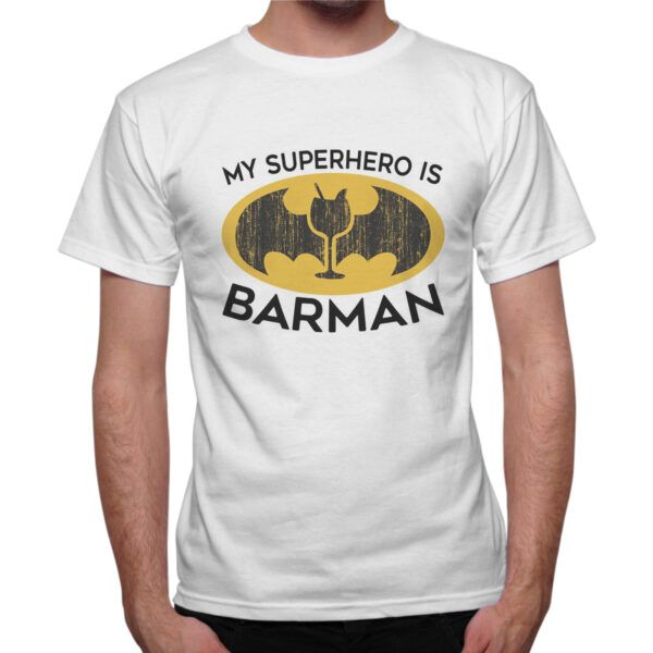 T-Shirt Uomo SUPERHERO BARMAN 1