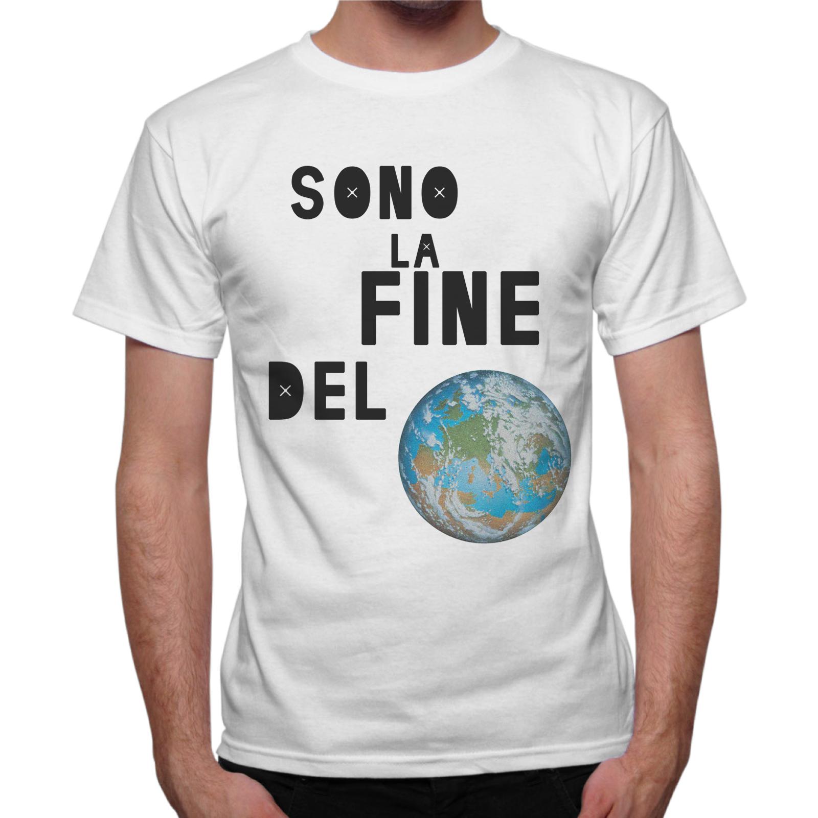 T-Shirt Uomo SONO LA FINE DEL MONDO