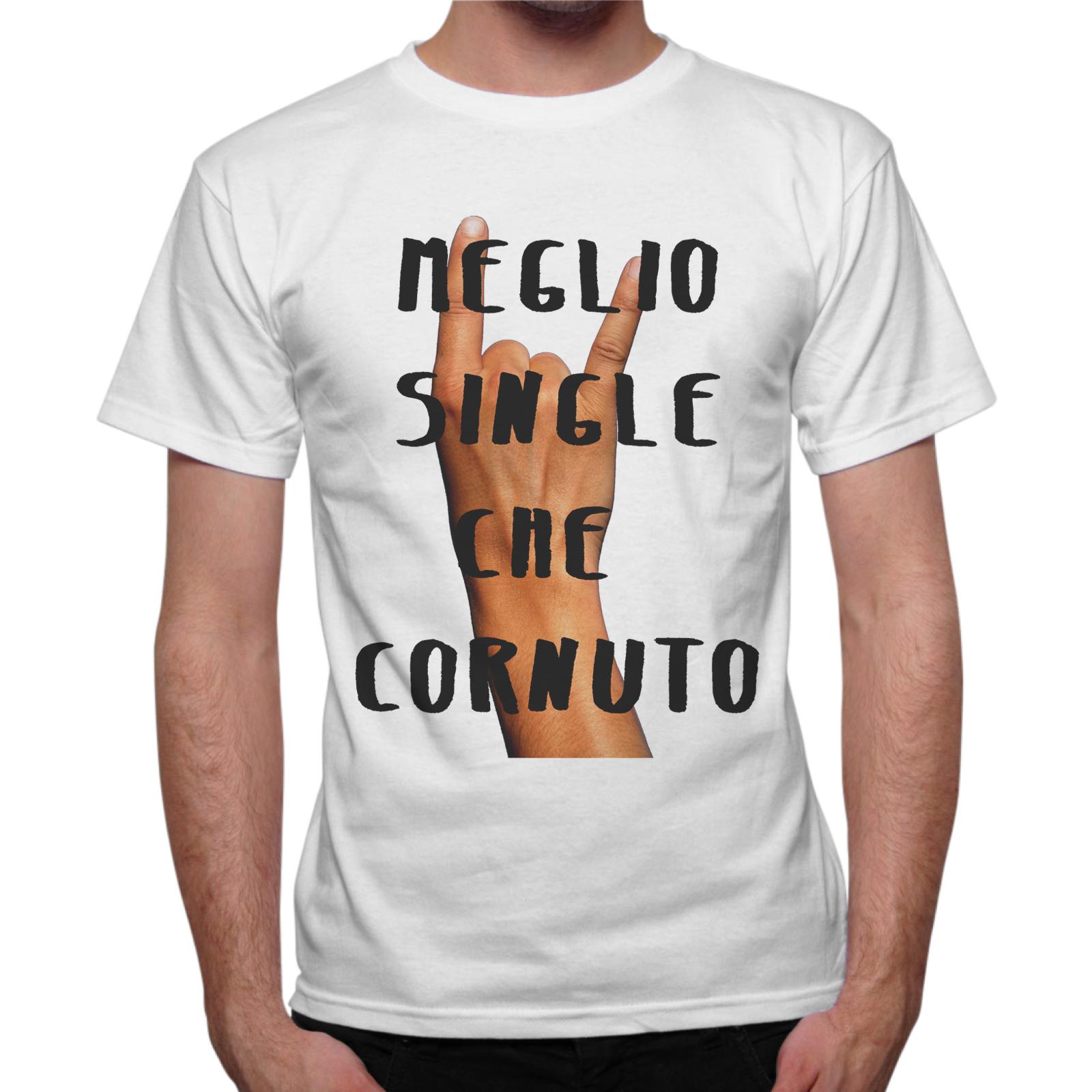T-Shirt Uomo MEGLIO SINGLE
