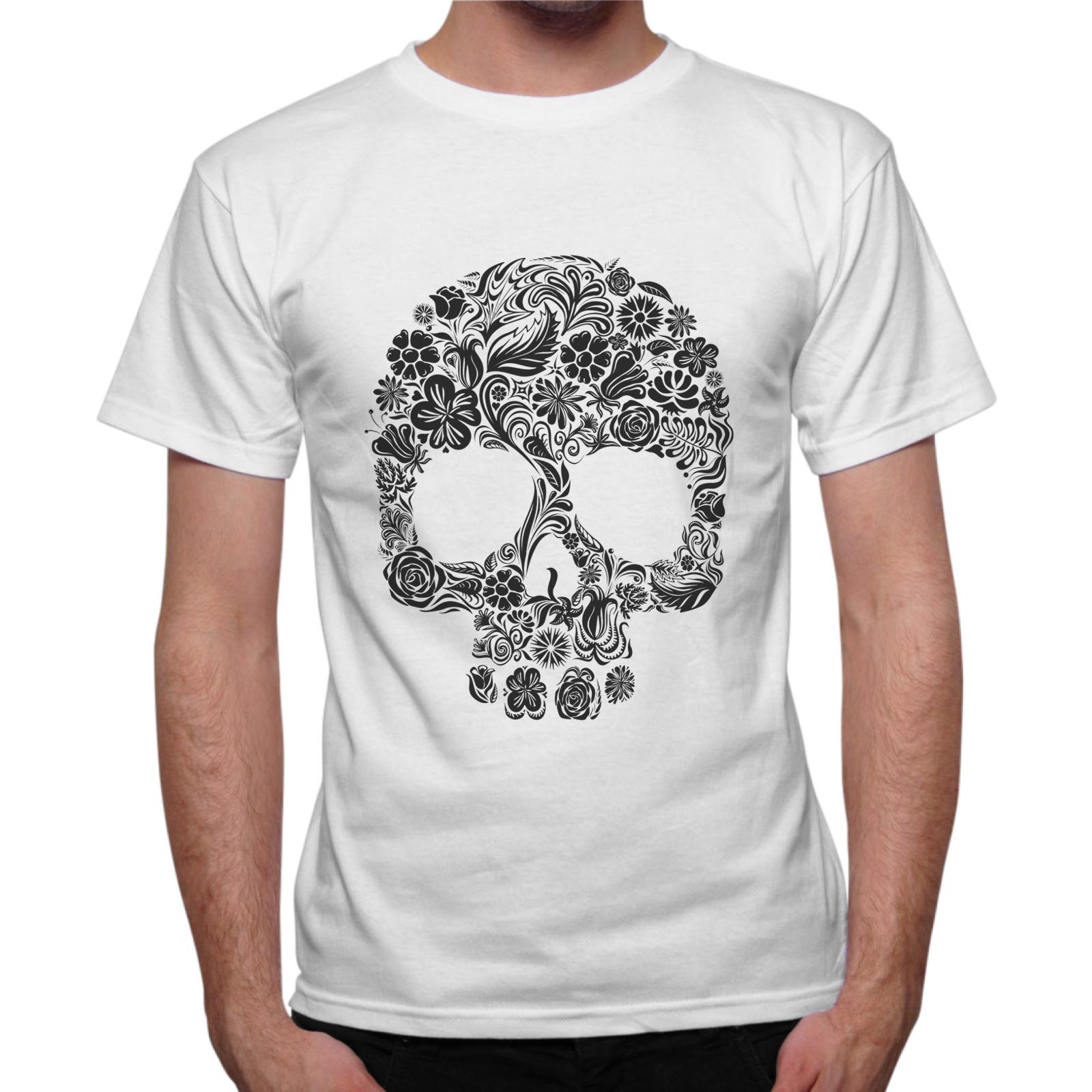 T-Shirt Uomo SKULL FLOWERS 1