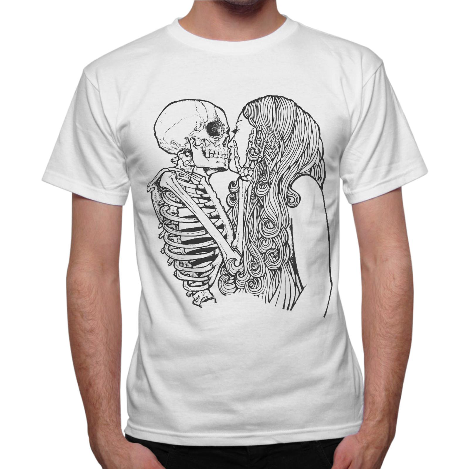 T-Shirt Uomo SKULL KISS GIRL