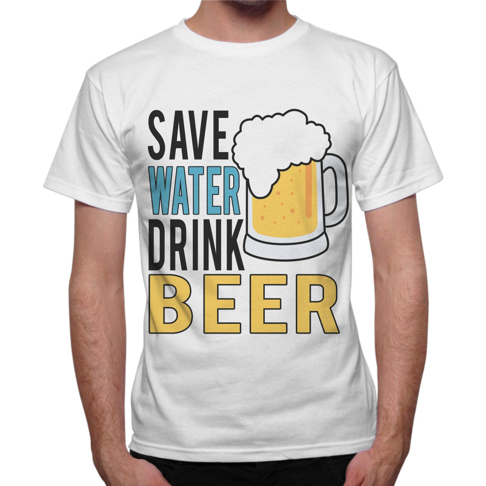 T-Shirt Uomo SAVE BEER DRINK BEER