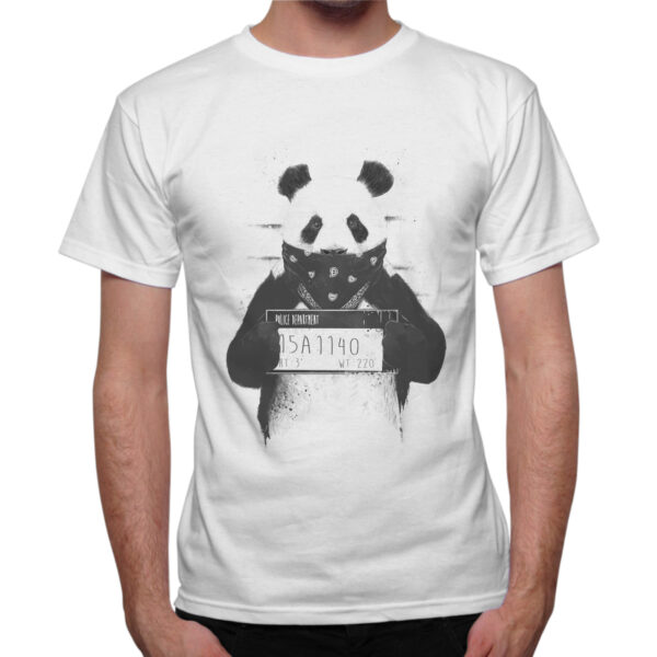 T-Shirt Uomo PANDA WANTED 1