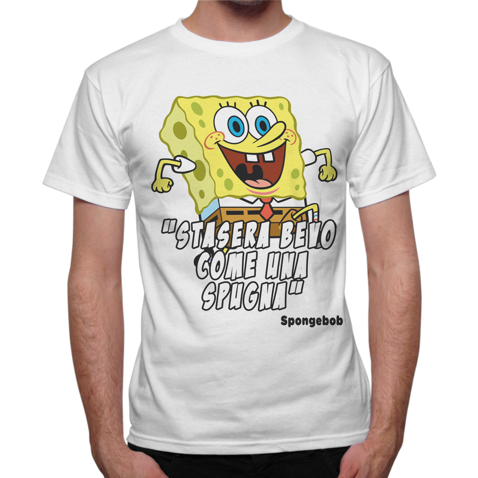 T-Shirt Uomo BEVO COME UNA SPUGNA