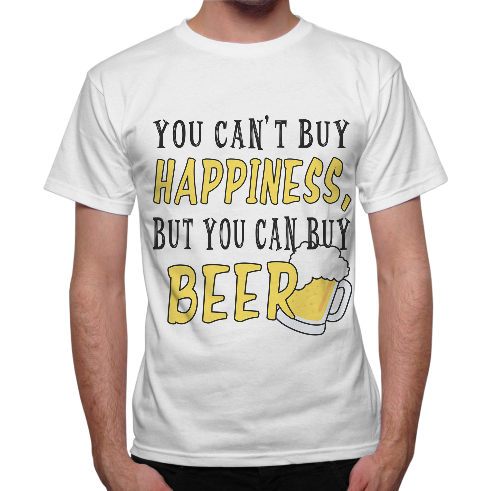 T-Shirt Uomo CAN BUY BEER