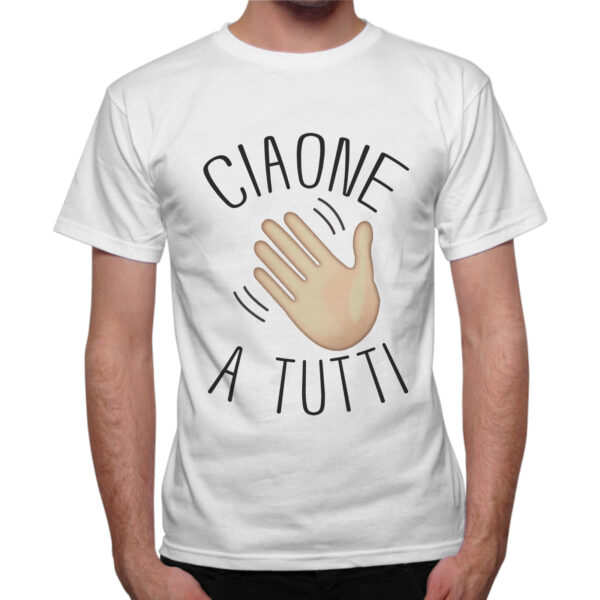T-Shirt Uomo CIAONE A TUTTI 1