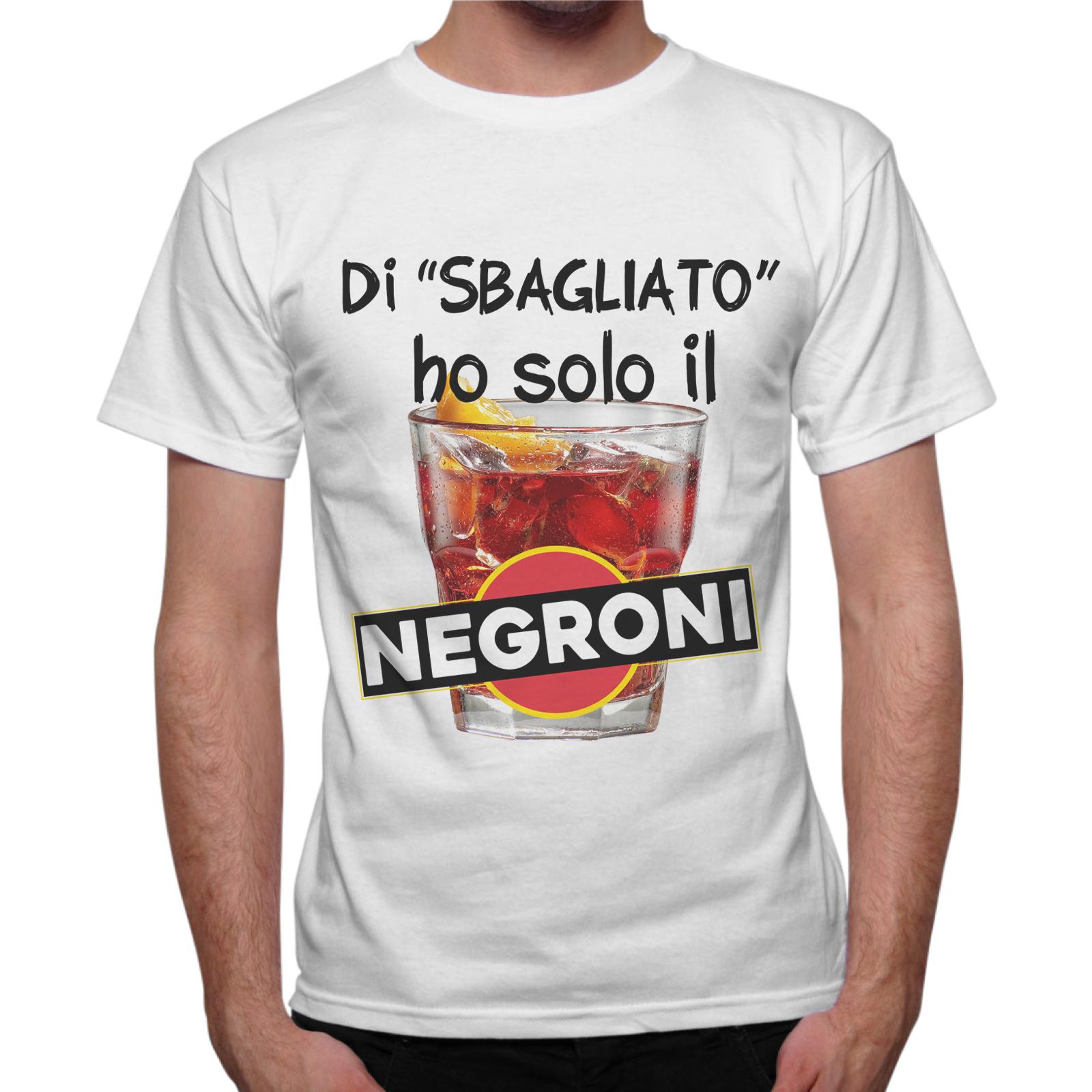 T-Shirt Uomo DI SBAGLIATO HO SOLO IL NEGRONI 1