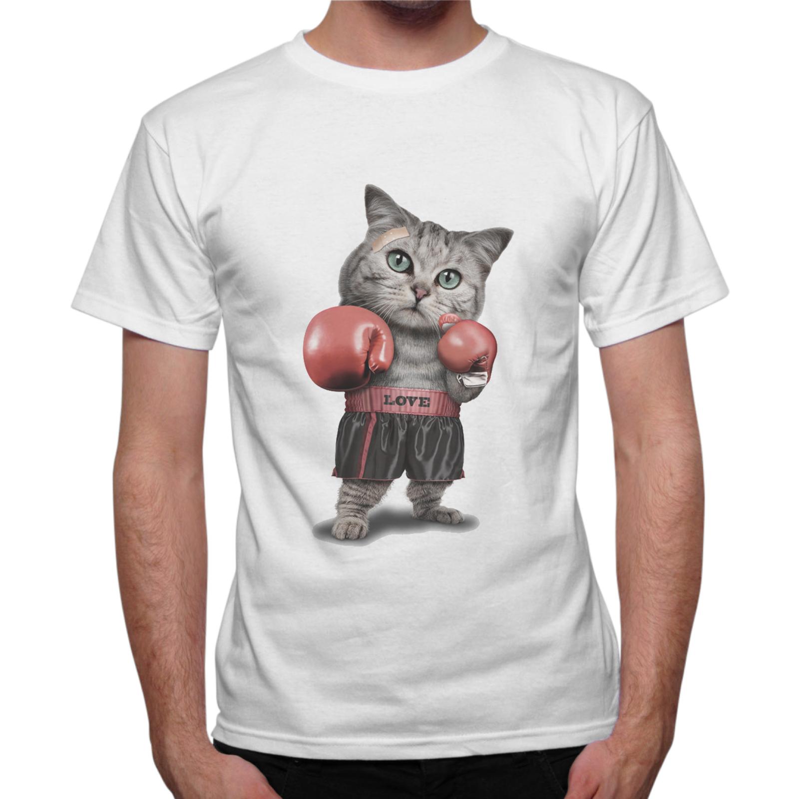 T-Shirt Uomo GATTO BOXE