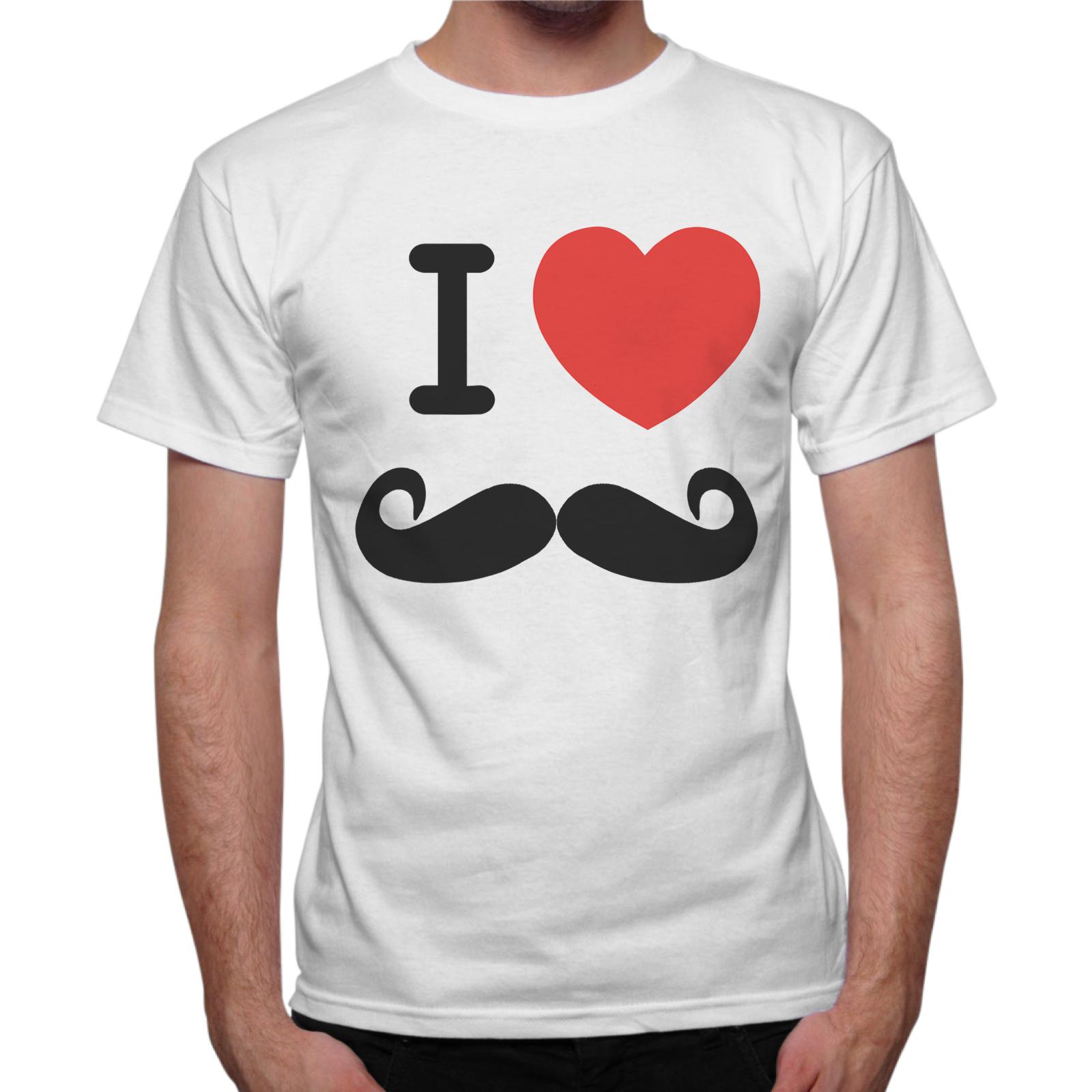 T-Shirt Uomo LOVE MUSTACHE 1