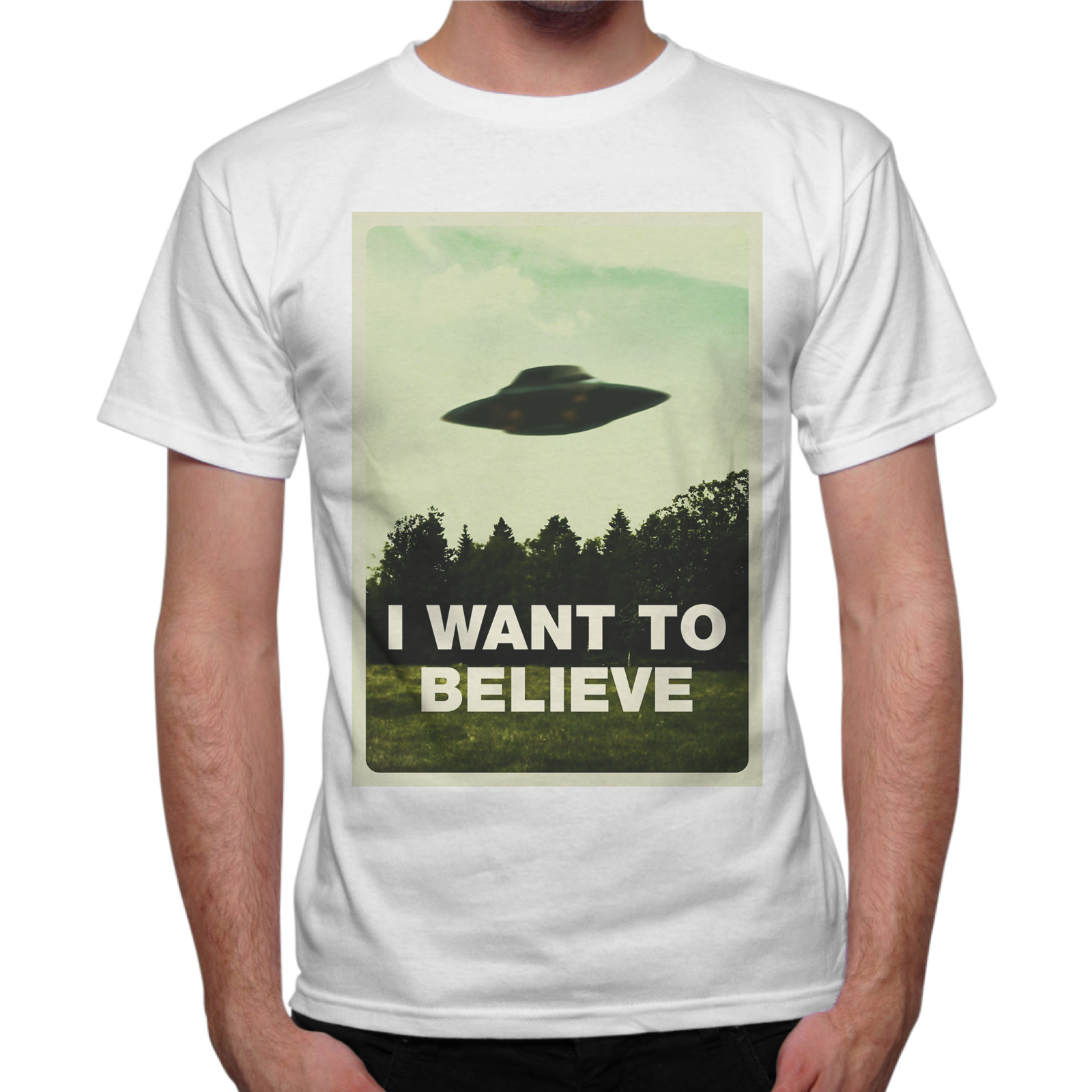 T-Shirt Uomo I WANT BELIEVE