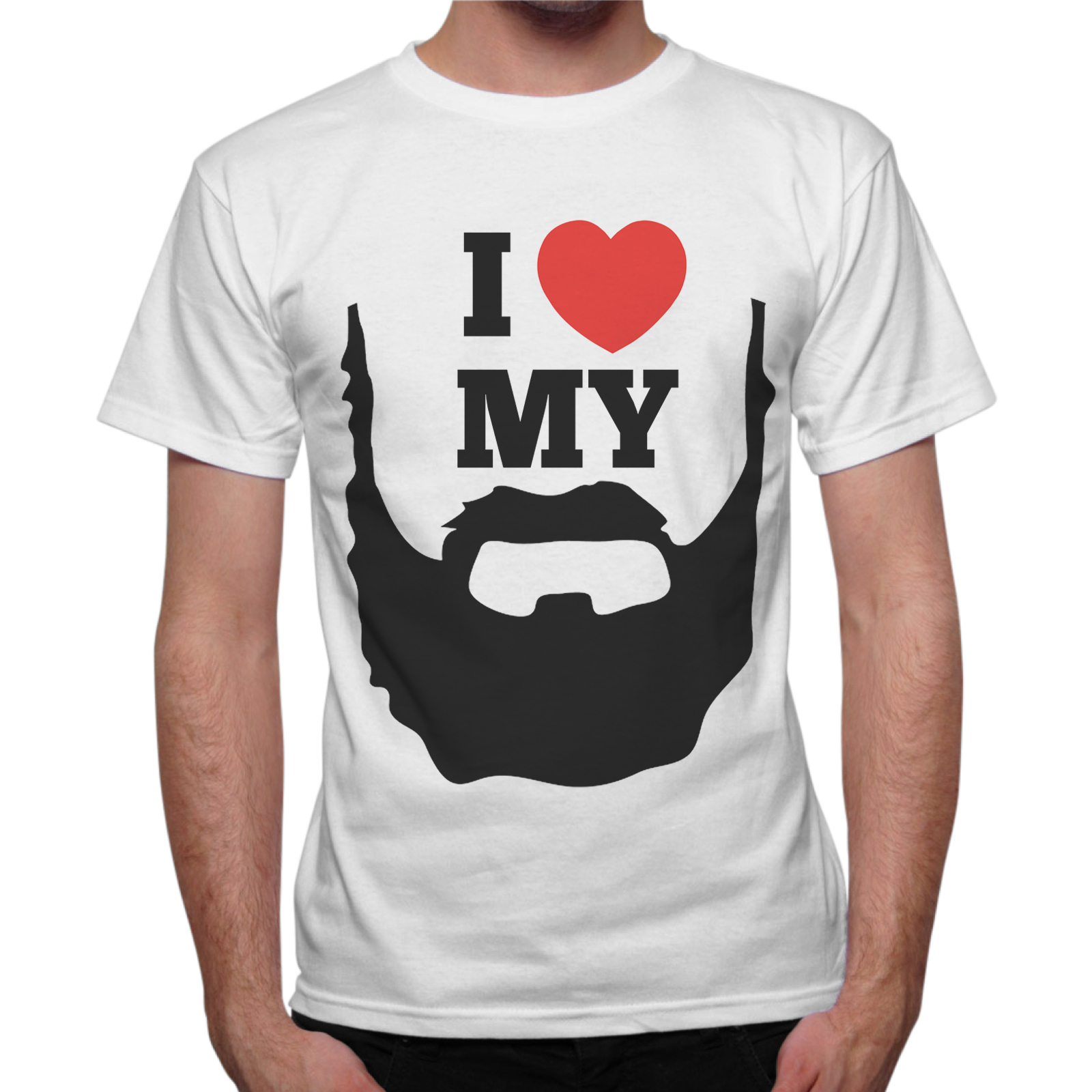 T-Shirt Uomo I LOVE MY BEARD