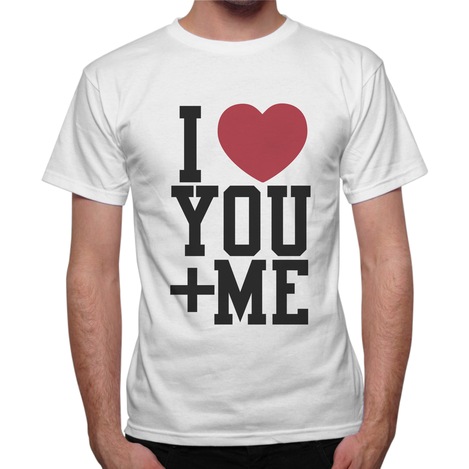 T-Shirt Uomo I LOVE YOU + ME