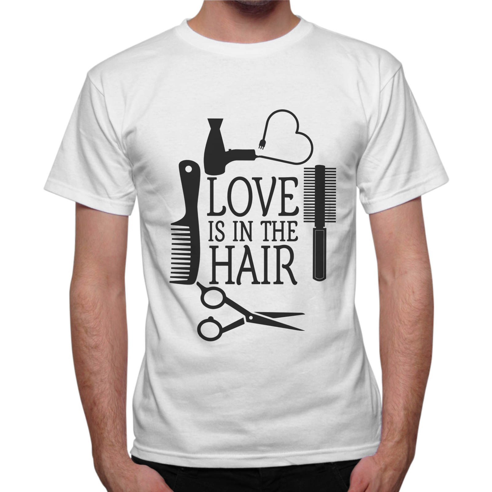 T-Shirt Uomo LOVE IN THE HAIR