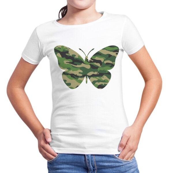 T-Shirt Bambina FARFALLA MILITARE 1