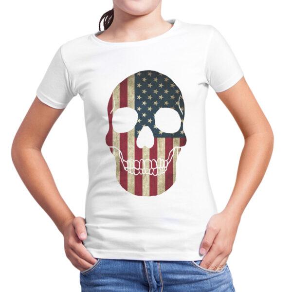 T-Shirt Bambina TESCHIO BANDIERA AMERICA 1