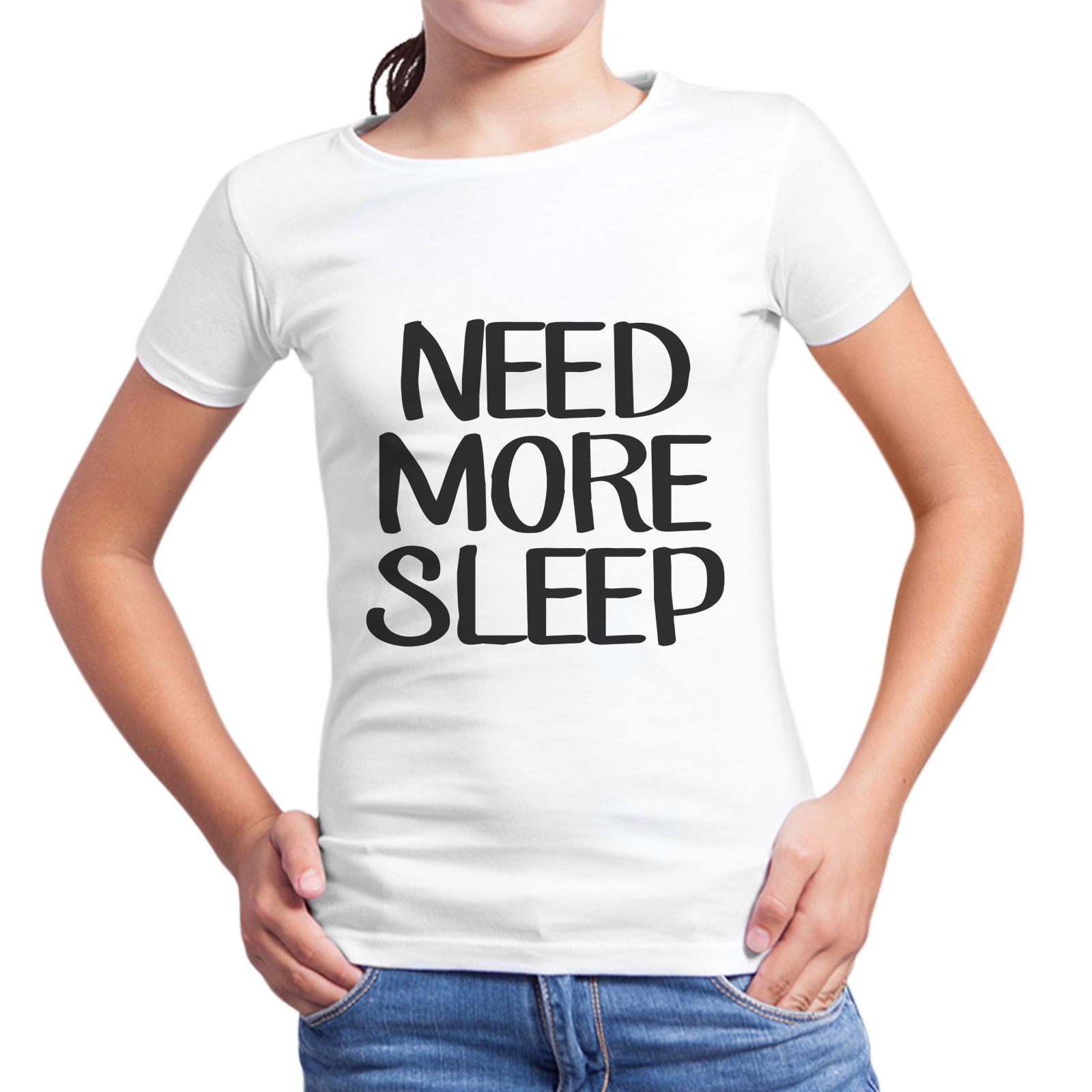 T-Shirt Bambina NEED MORE SLEEP