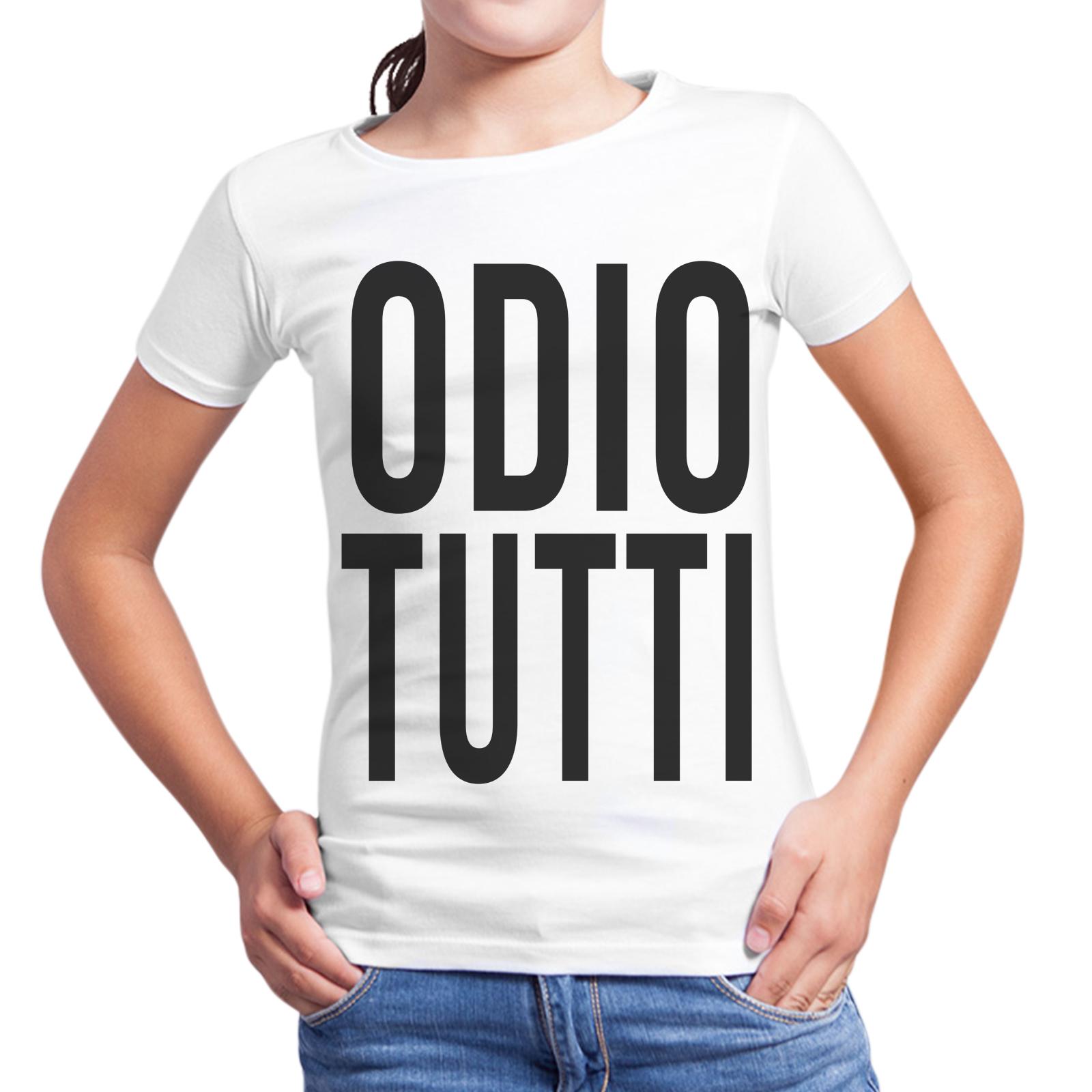 T-Shirt Bambina ODIO TUTTI