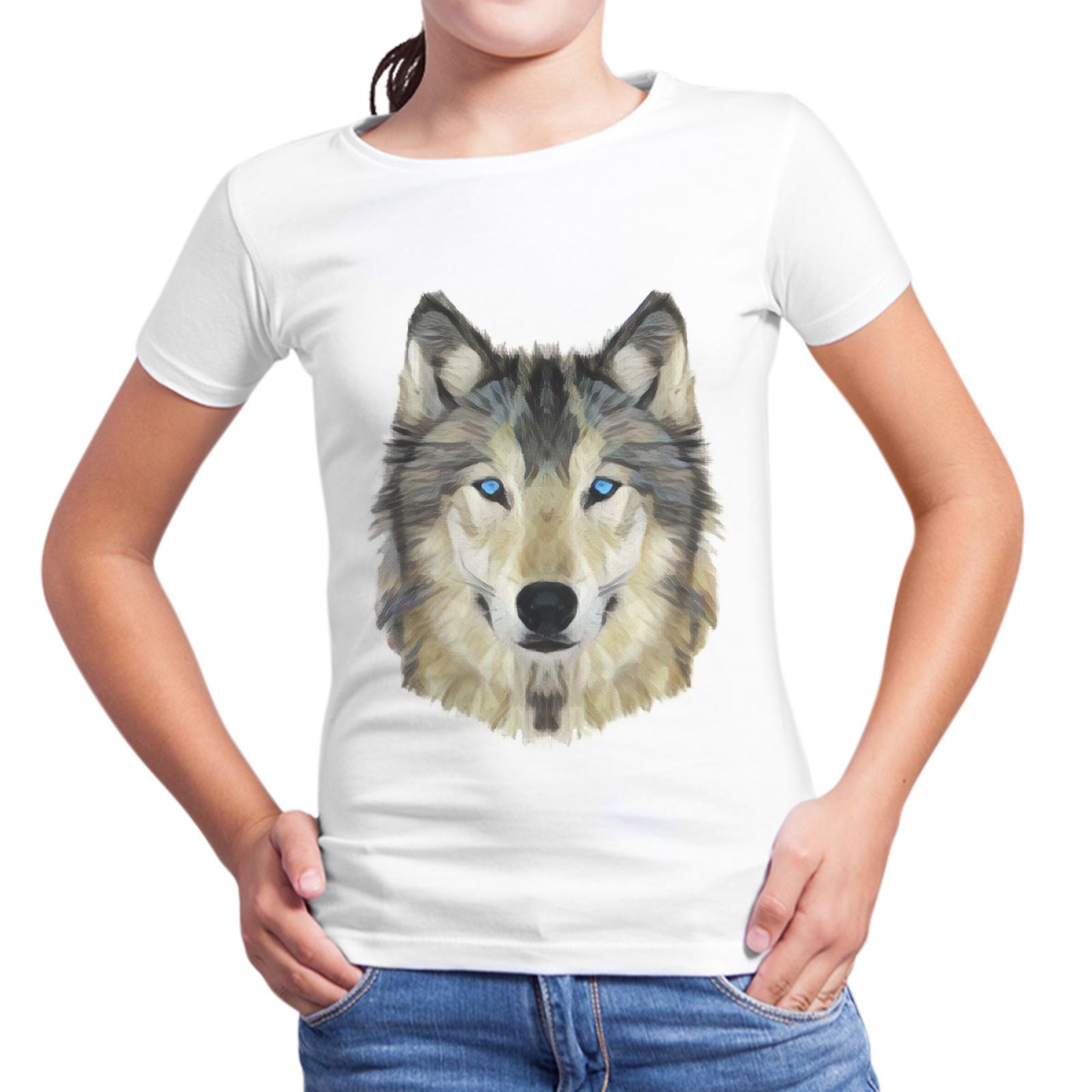 T-Shirt Bambina WOLF FACE