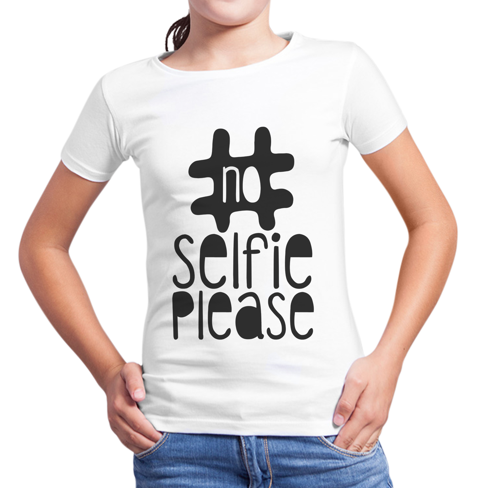 T-Shirt Bambina NO SELFIE PLEASE