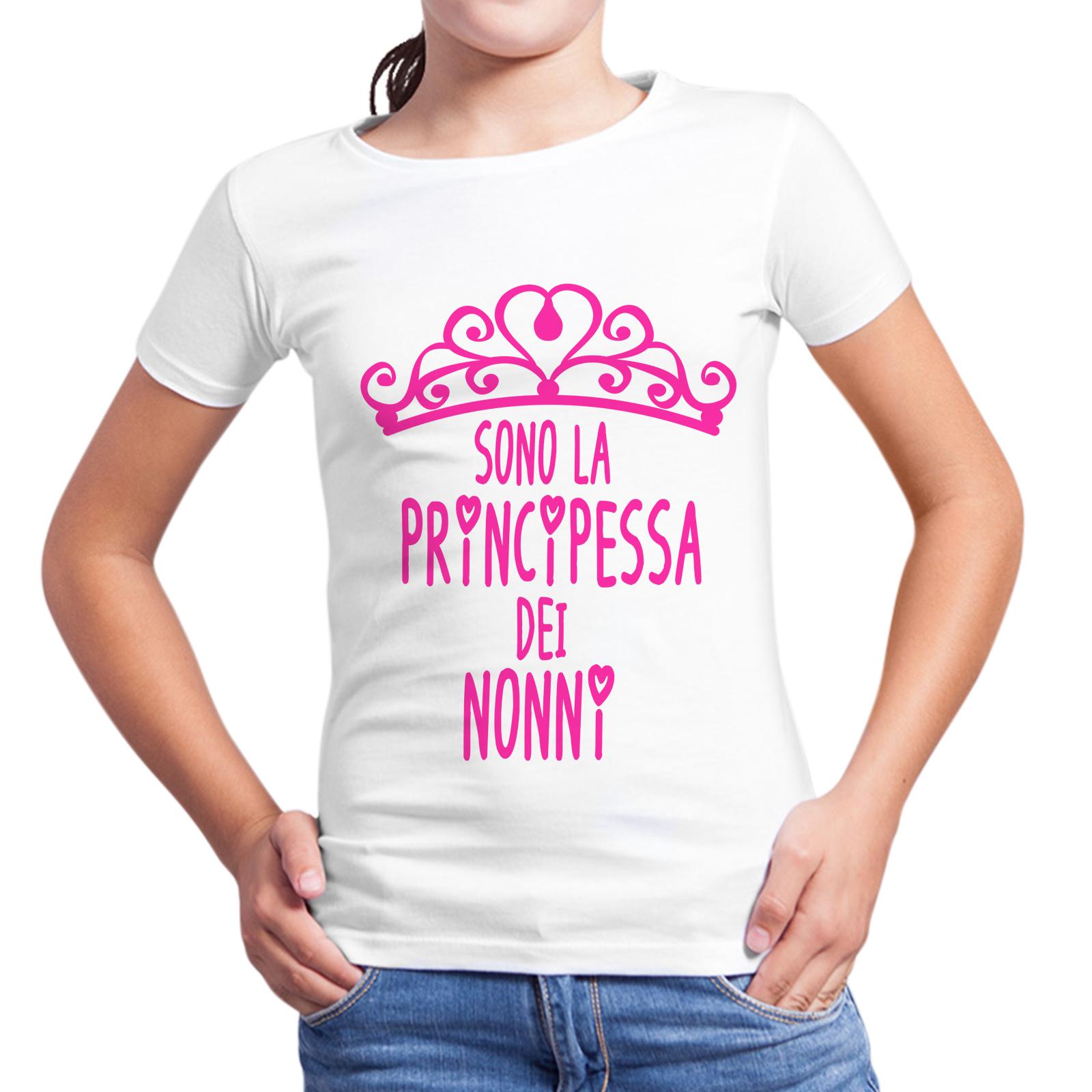 T-Shirt Bambina PRINCIPESSA DEI NONNI 1
