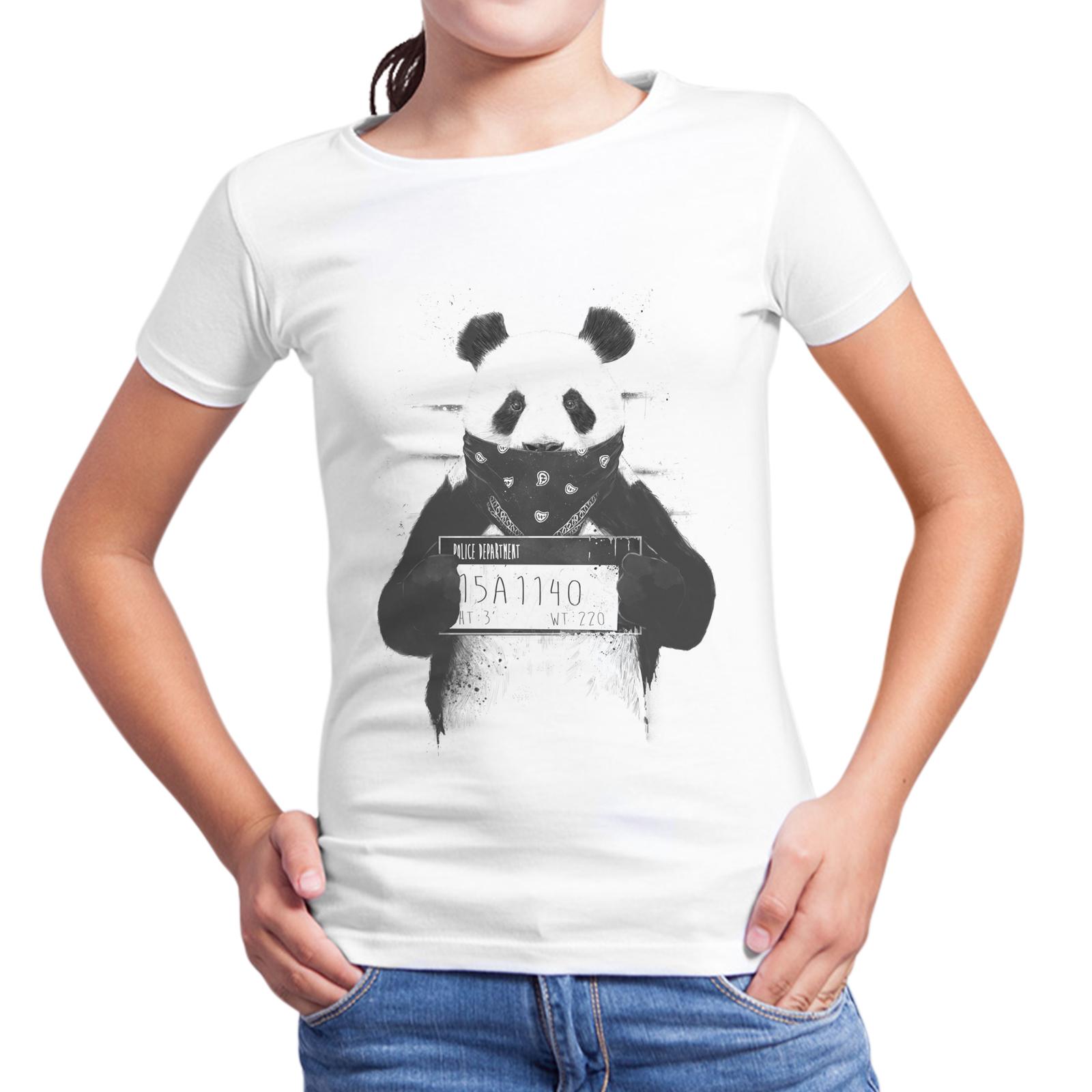 T-Shirt Bambina PANDA WANTED 1