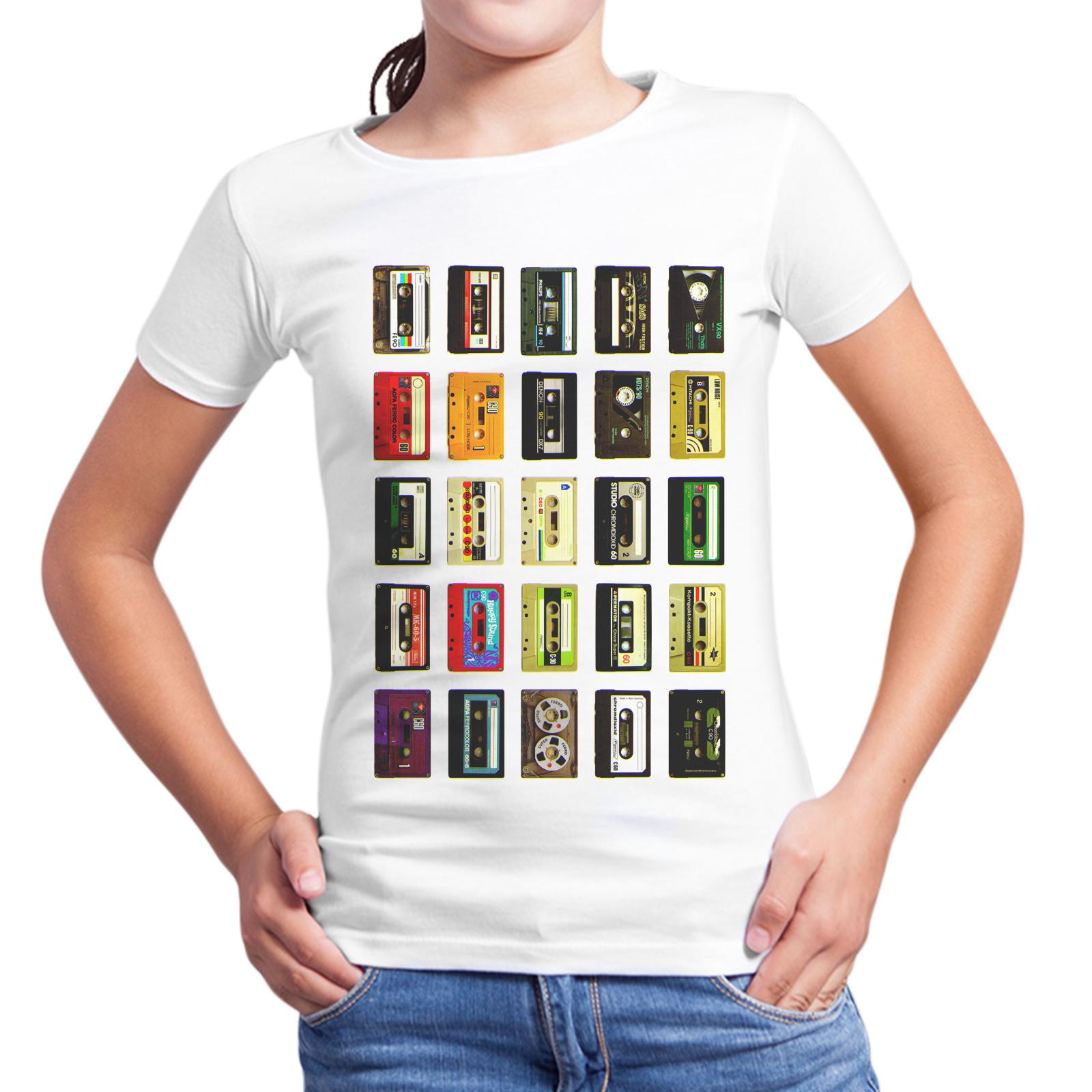 T-Shirt Bambina CASSETTE VINTAGE