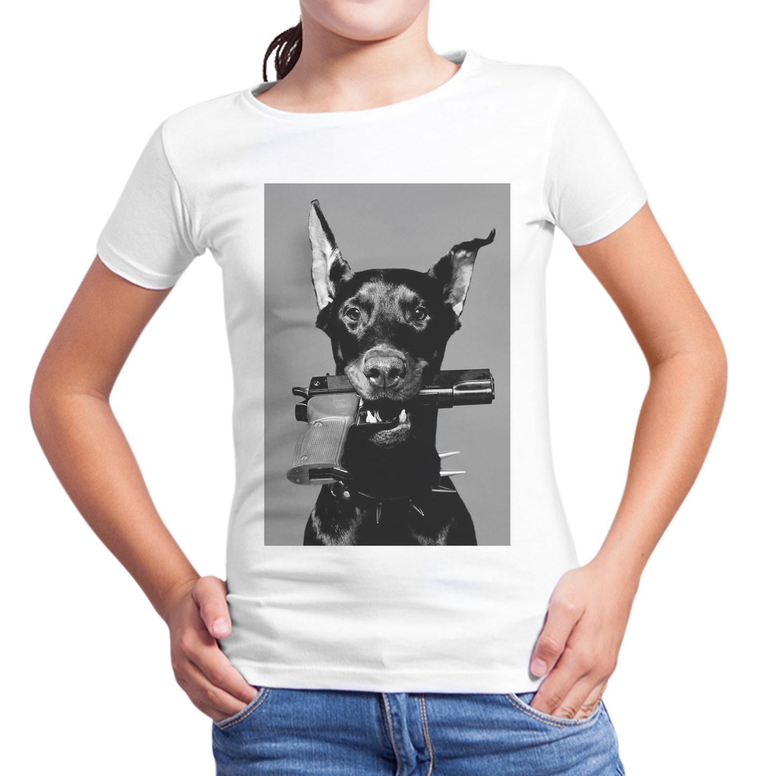 T-Shirt Bambina DOG PISTOL