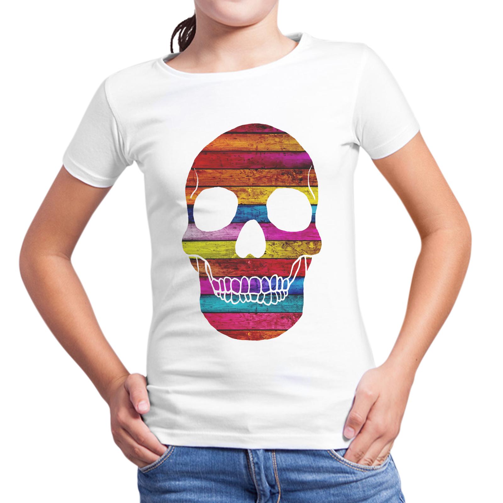 T-Shirt Bambina WOOD SKULL 1