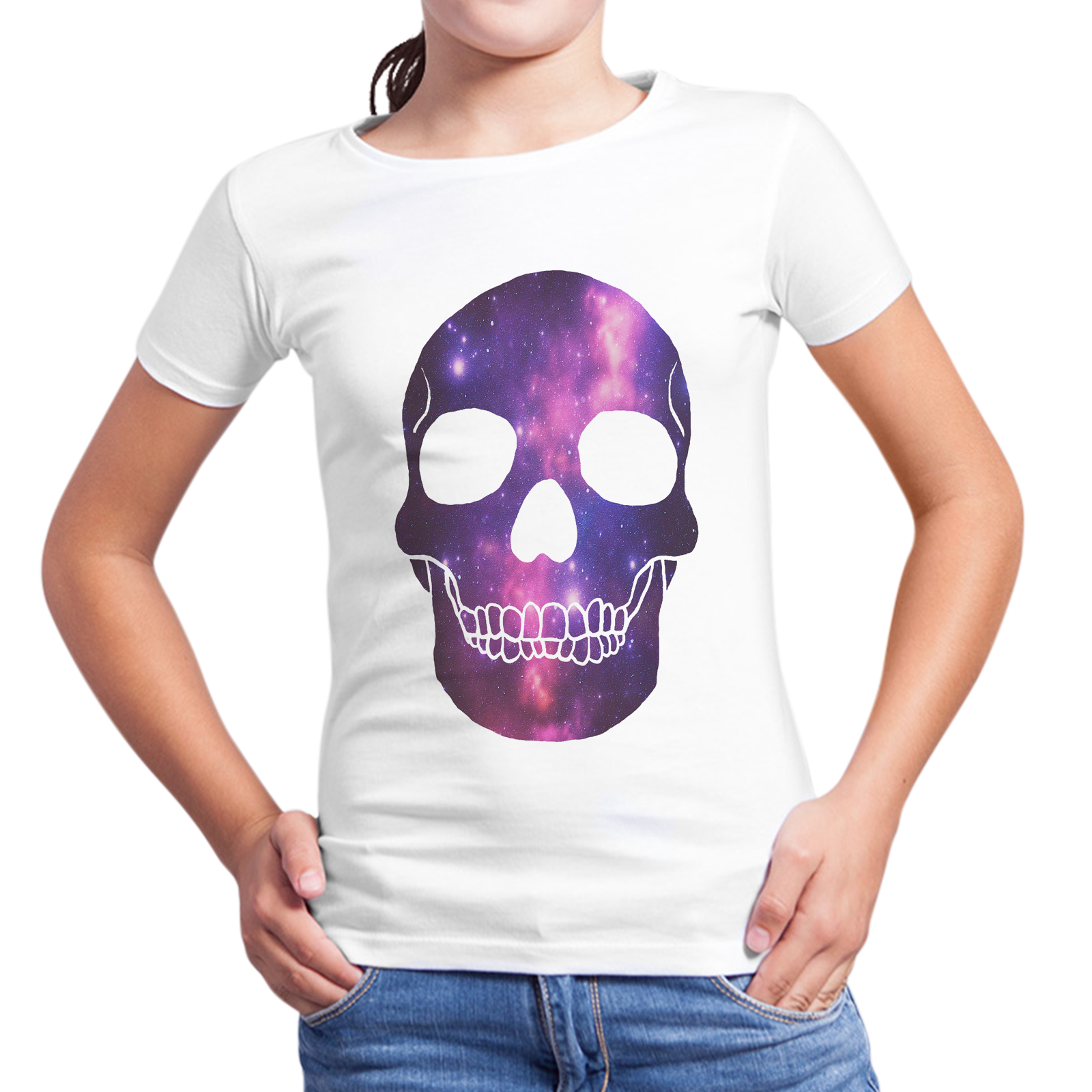 T-Shirt Bambina SKULL GALAXY 1