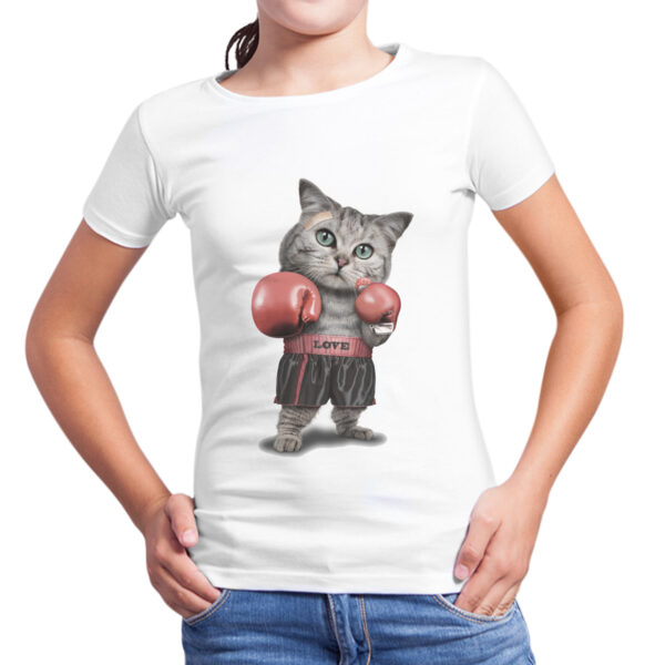 T-Shirt Bambina GATTO BOXE 1