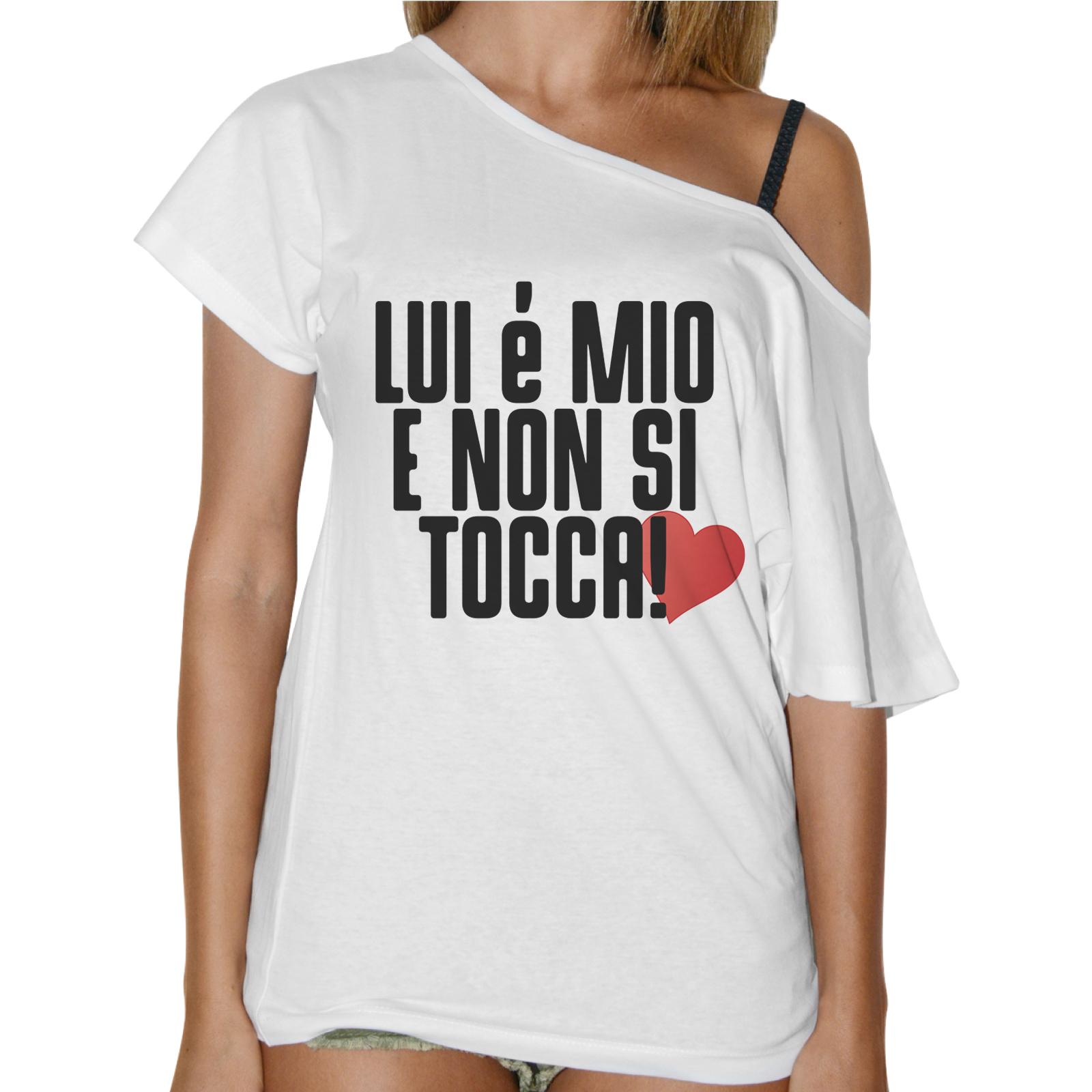T-Shirt Donna Collo Barca LUI E' MIO