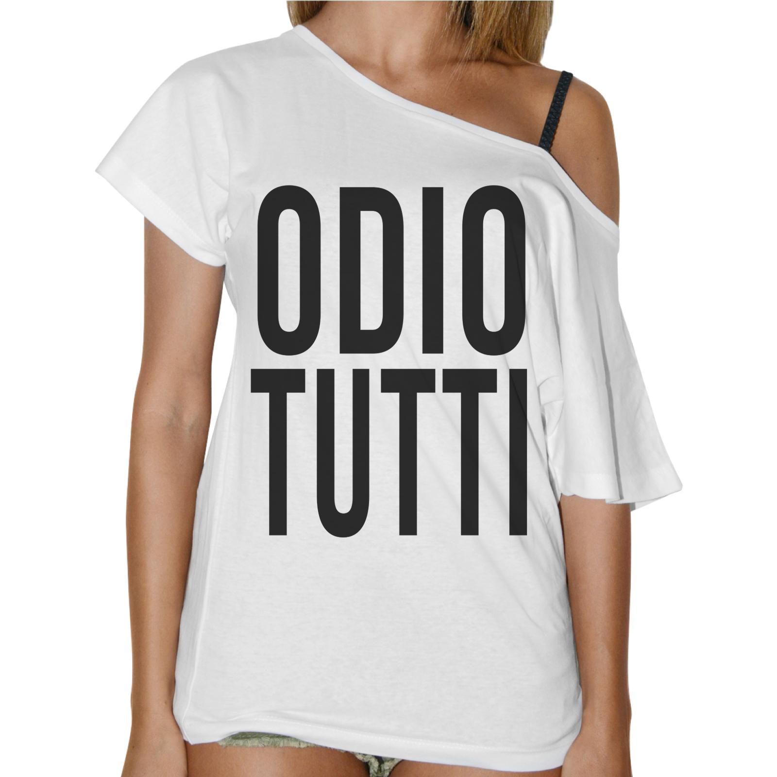 T-Shirt Donna Collo Barca ODIO TUTTI