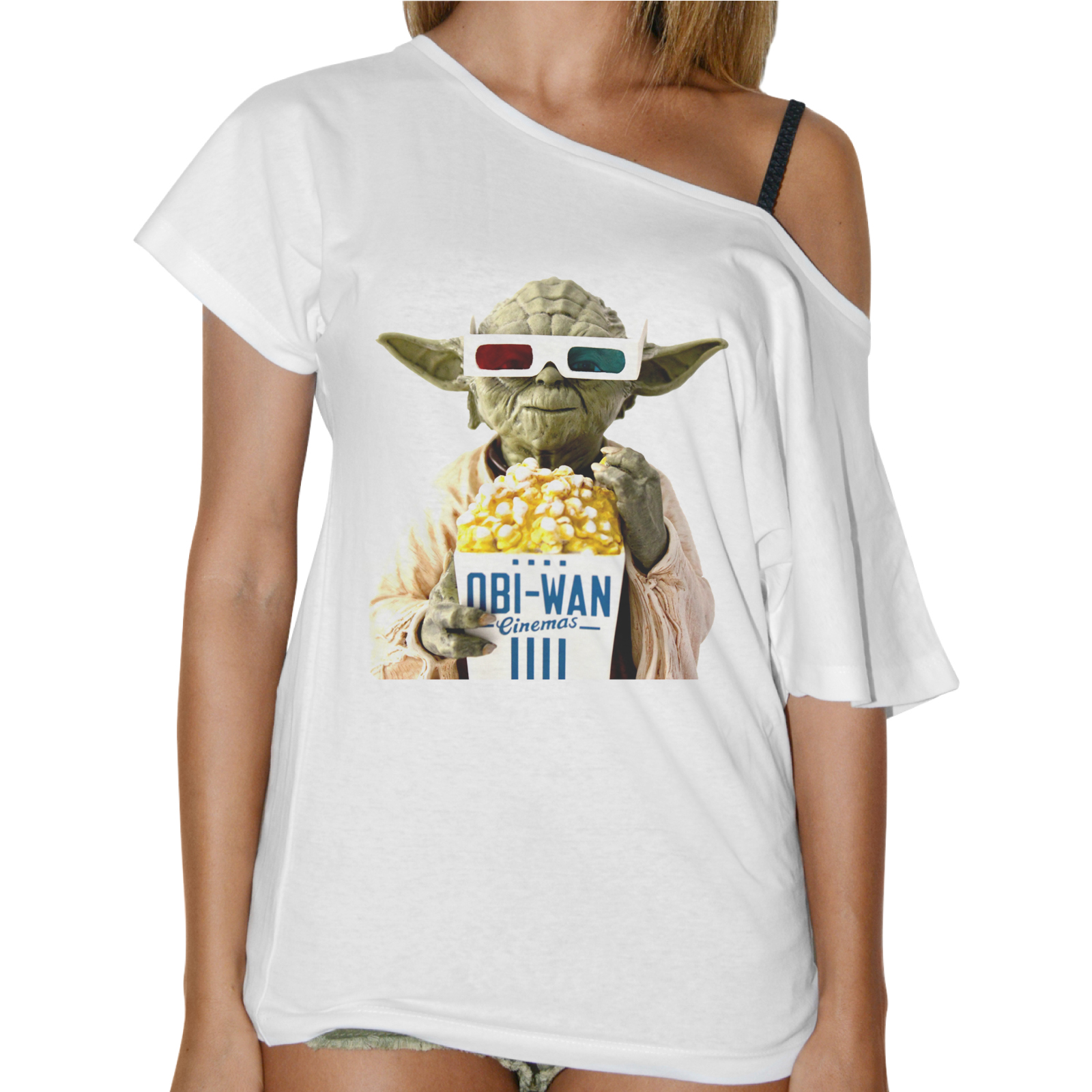 T-Shirt Donna Collo Barca OBI POP CORN 1