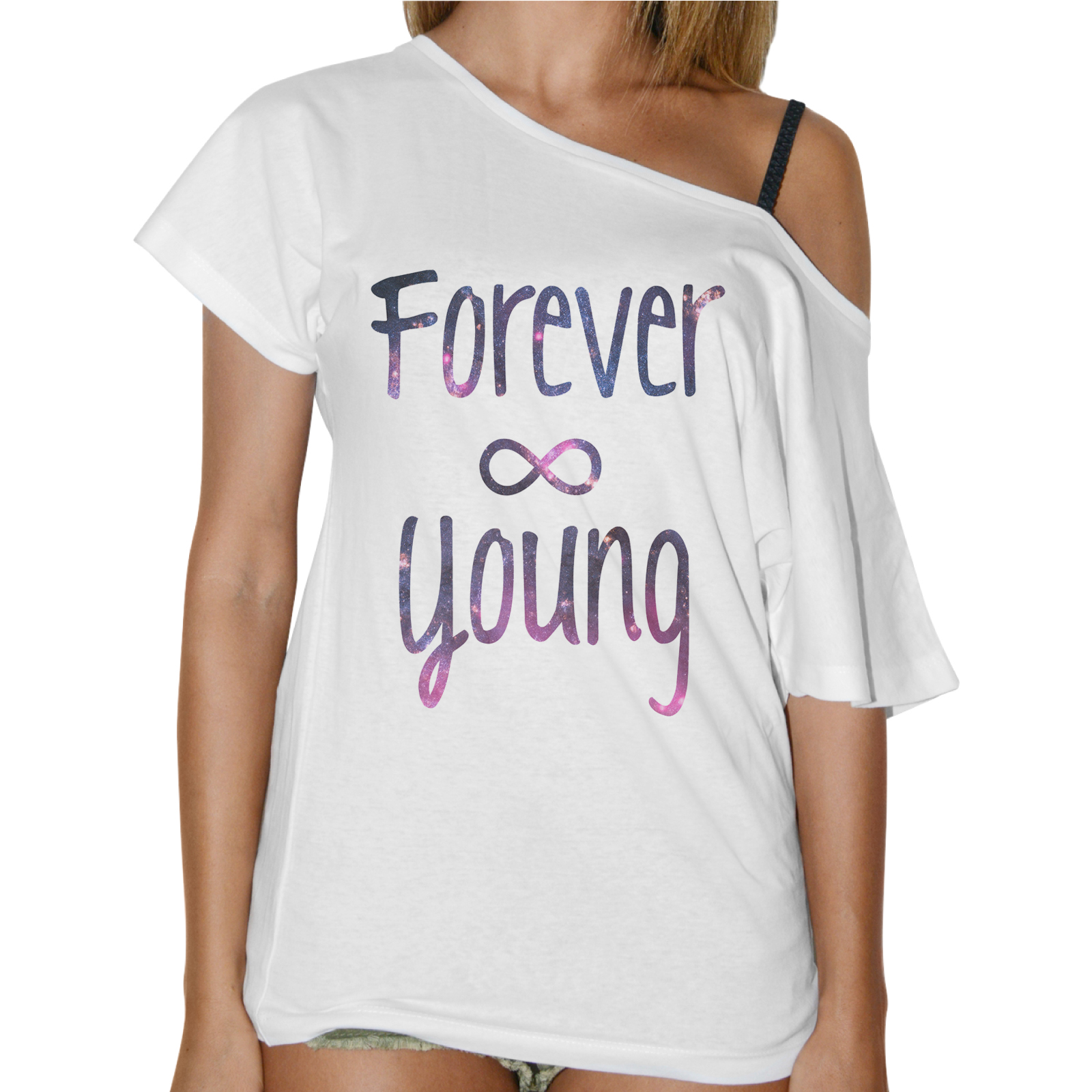 T-Shirt Donna Collo Barca FOREVER YOUNG