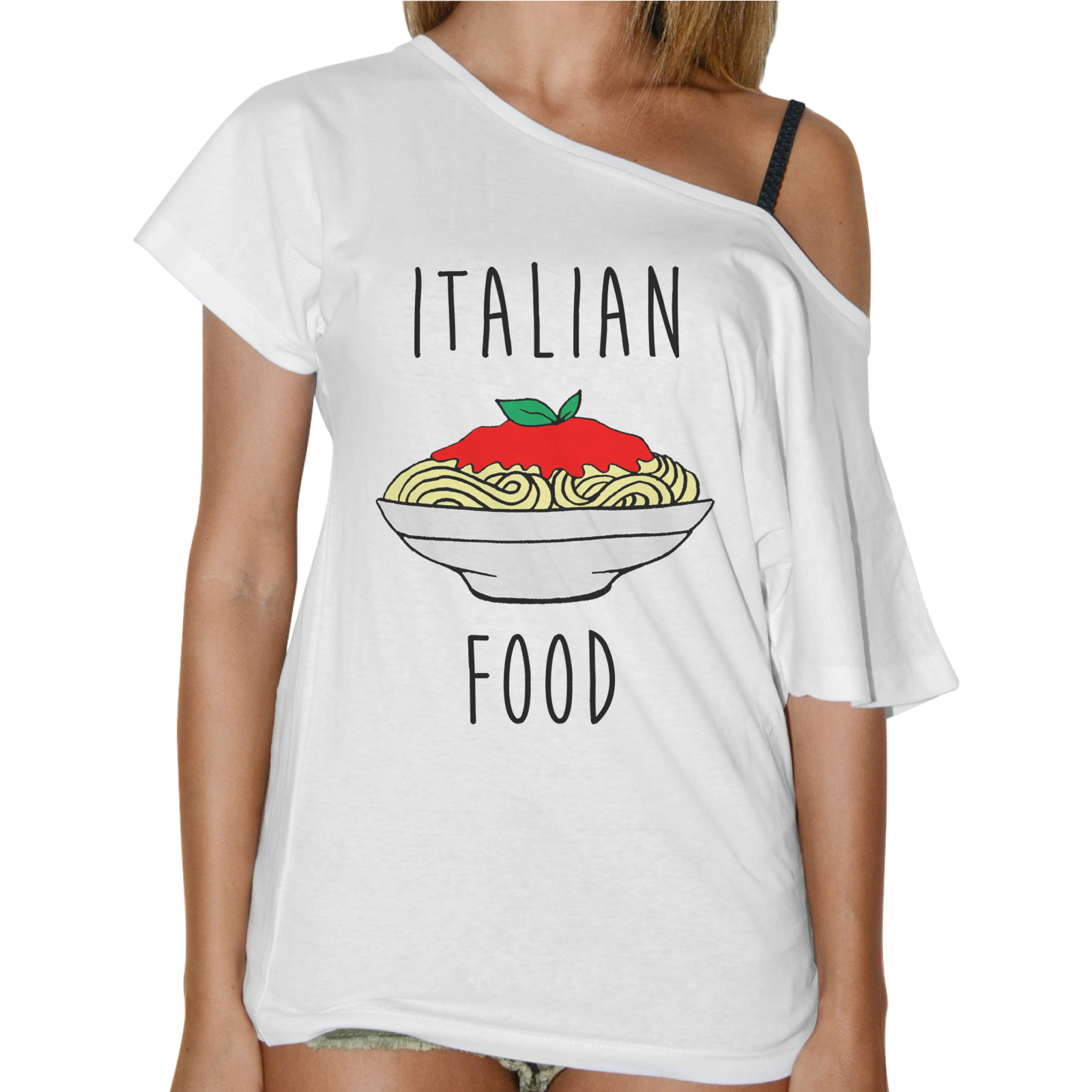 T-Shirt Donna Collo Barca ITALIAN FOOD