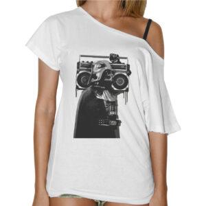 T-Shirt Donna Collo Barca VADER STEREO