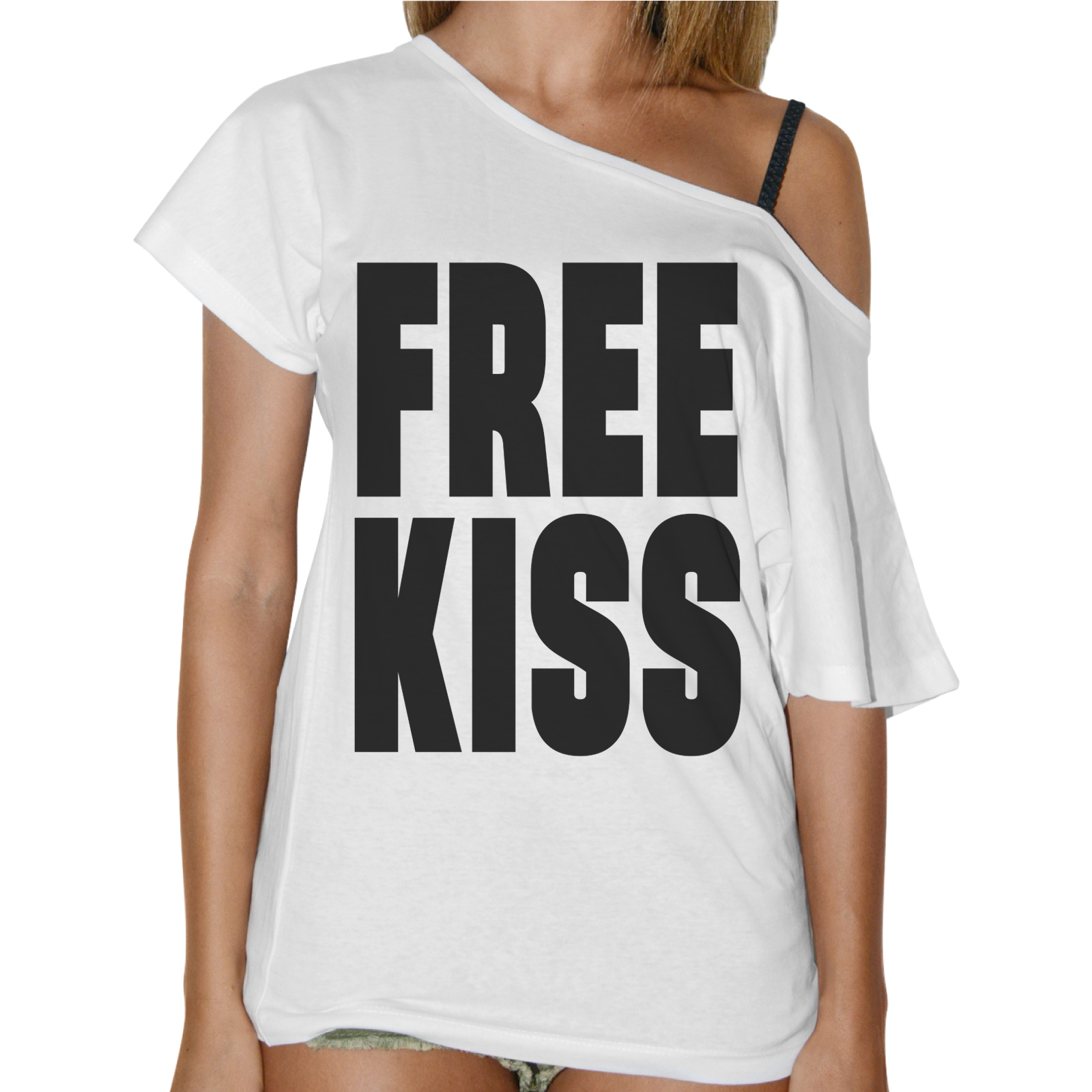 T-Shirt Donna Collo Barca FREE KISS