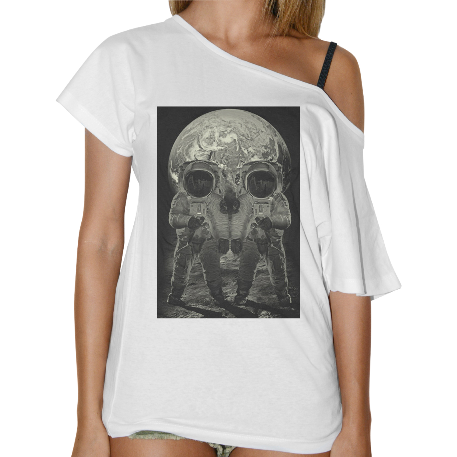 T-Shirt Donna Collo Barca SKULL MOON
