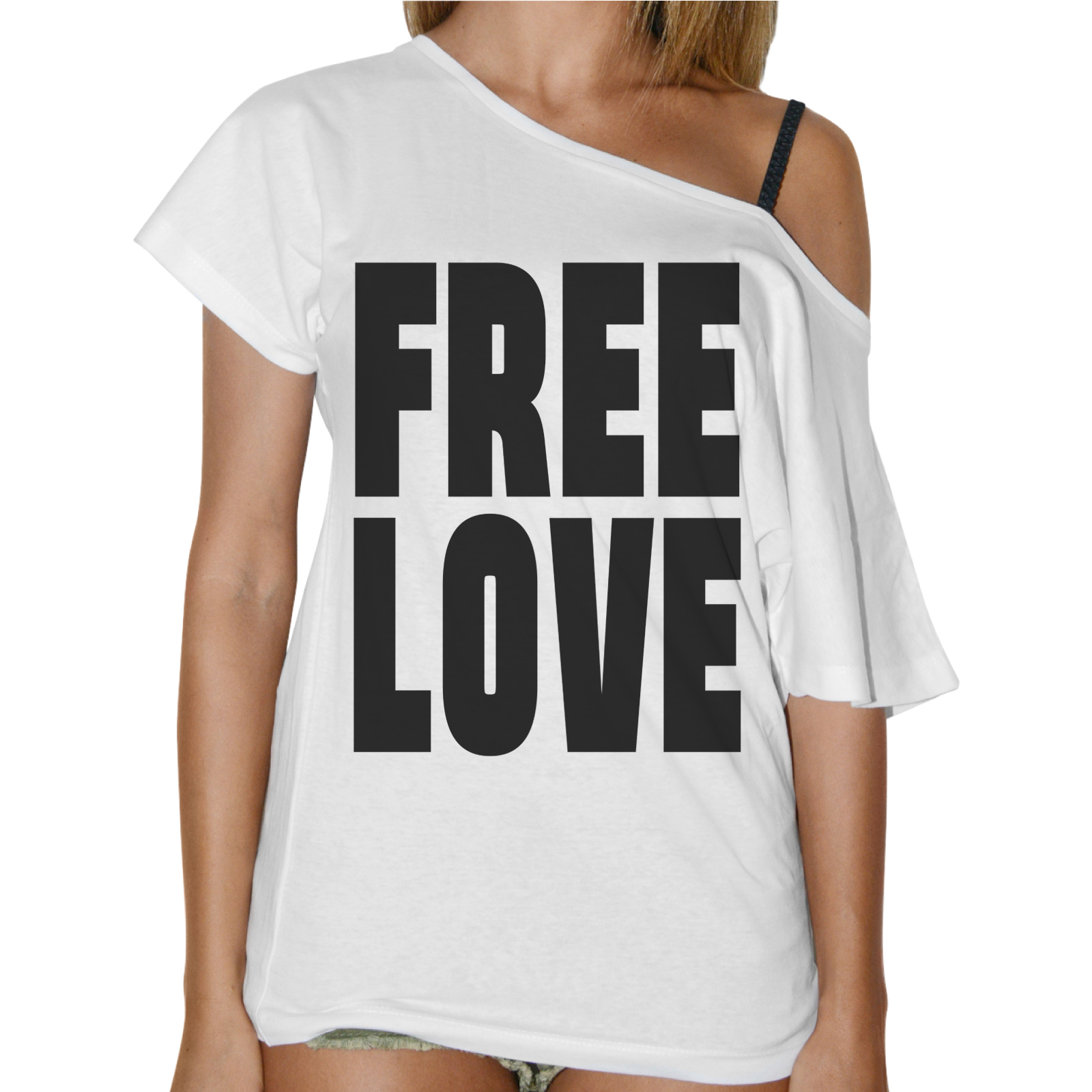 T-Shirt Donna Collo Barca FREE LOVE