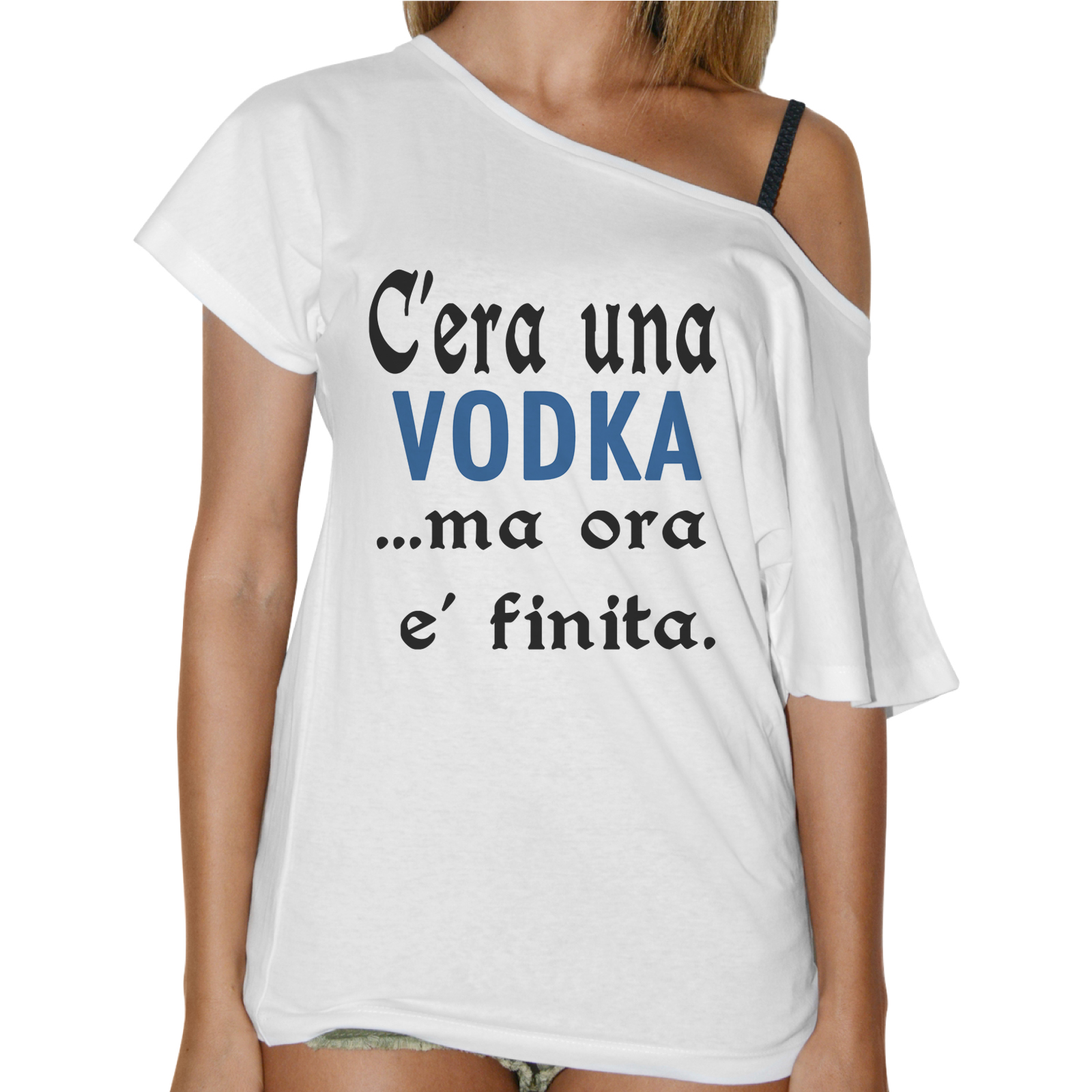 T-Shirt Donna Collo Barca C'ERA UNA VODKA