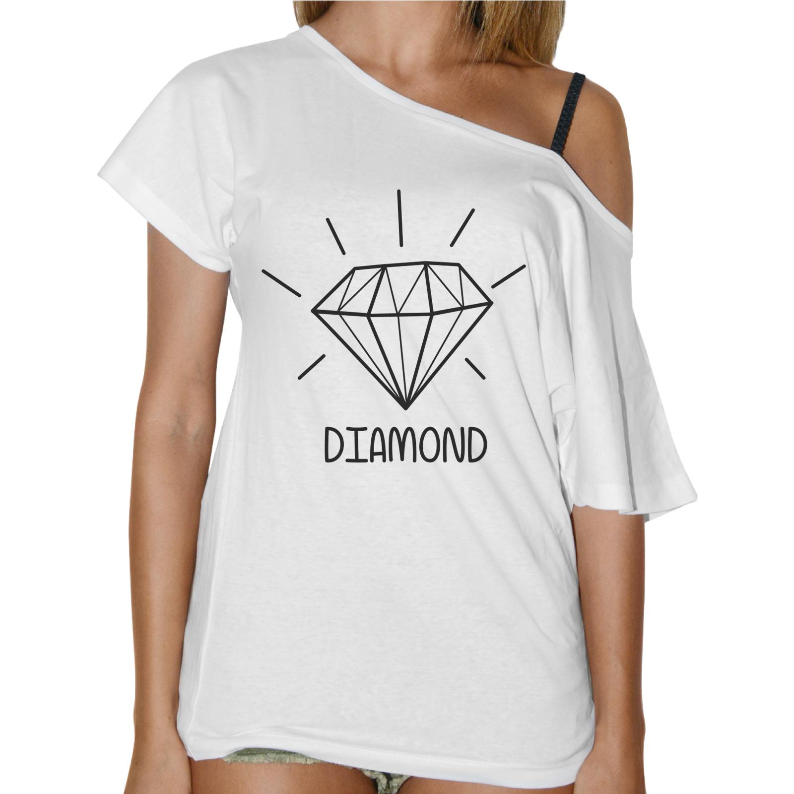 T-Shirt Donna Collo Barca DIAMOND