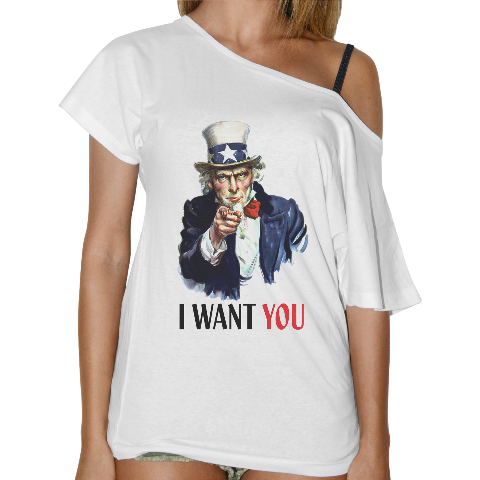 T-Shirt Donna Collo Barca I WANT YOU