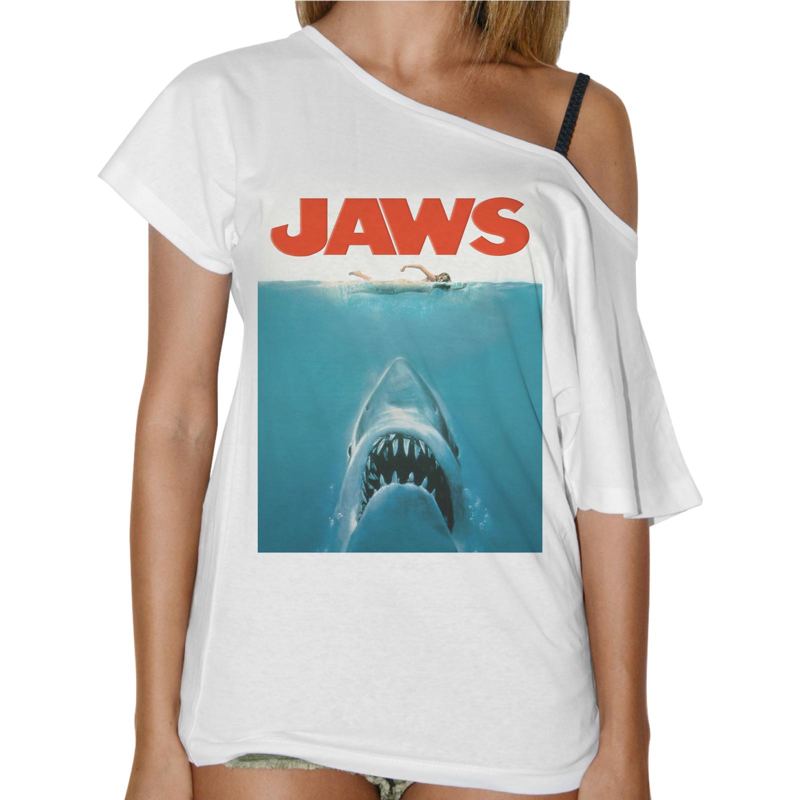 T-Shirt Donna Collo Barca SHARK JAWS