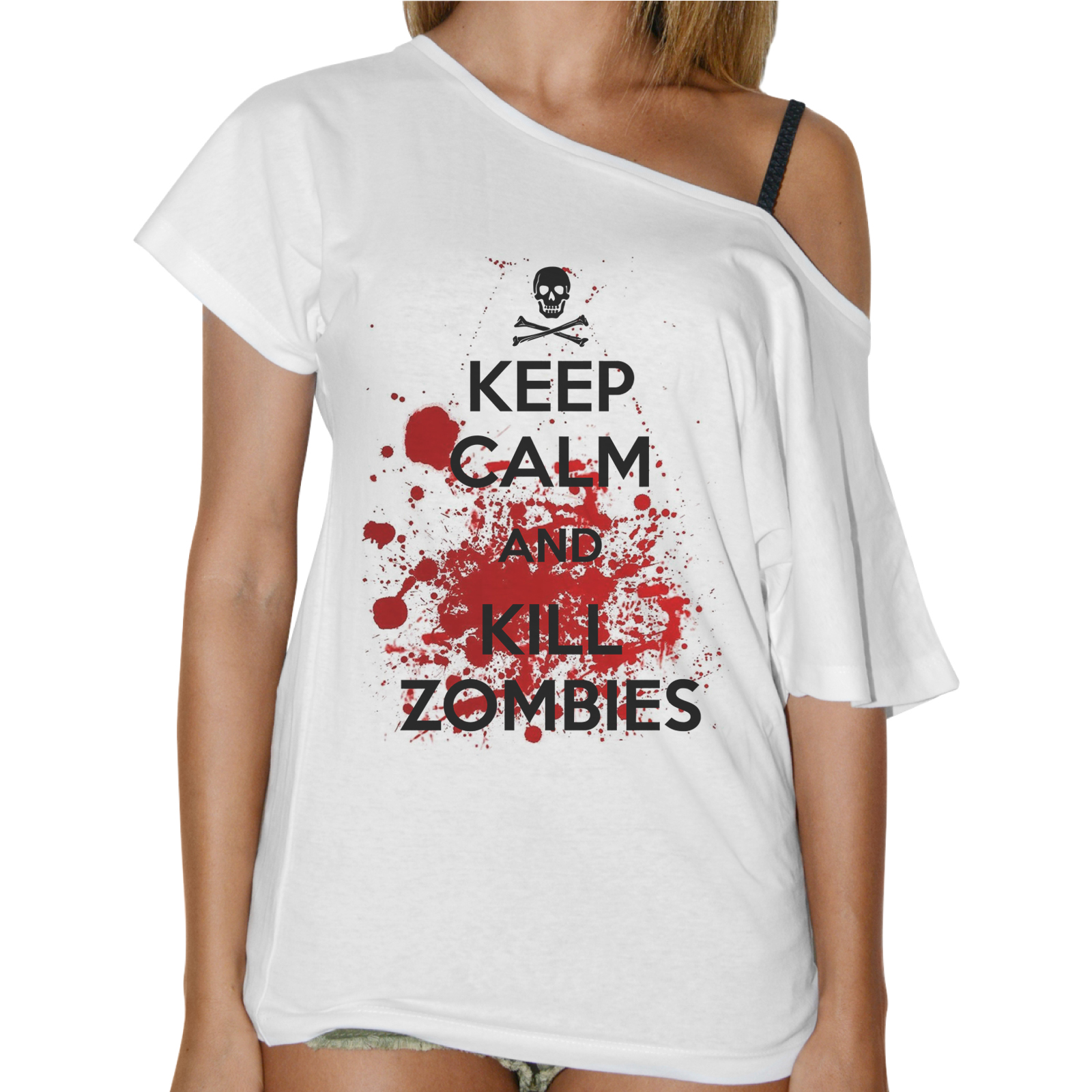 T-Shirt Donna Collo Barca KEEP ZOMBIE