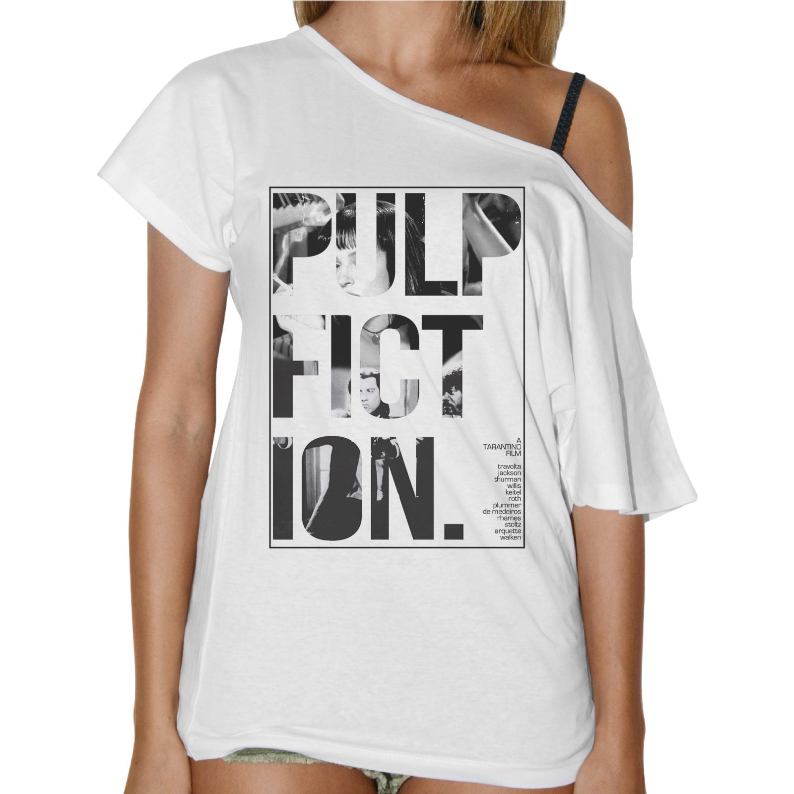 T-Shirt Donna Collo Barca PULP FICTION 1